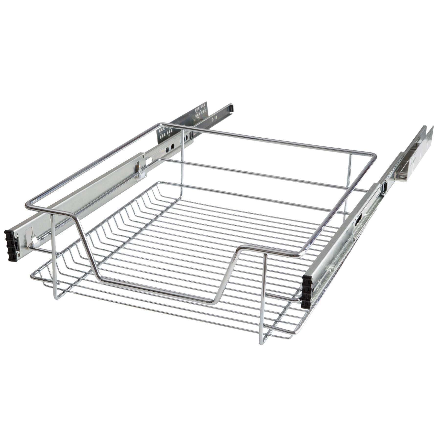 Panier de rangement coulissant cuisine meuble pour placard tag re tiroir 50 cm ebay - Panier rangement cuisine ...