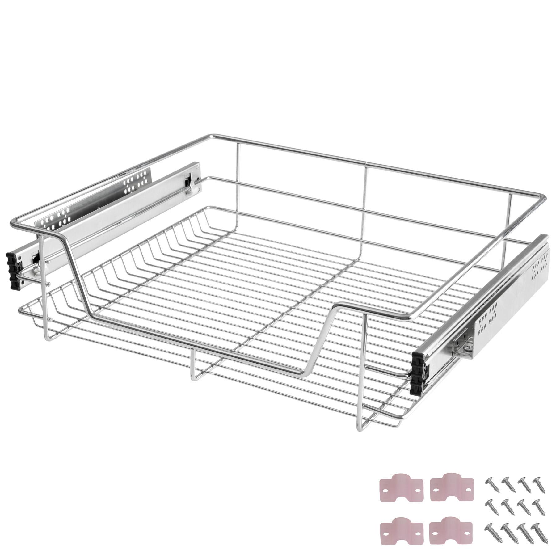 nouveau concept bd8a2 c7d08 Détails sur Panier de rangement coulissant cuisine meuble pour placard  étagère tiroir 60 cm