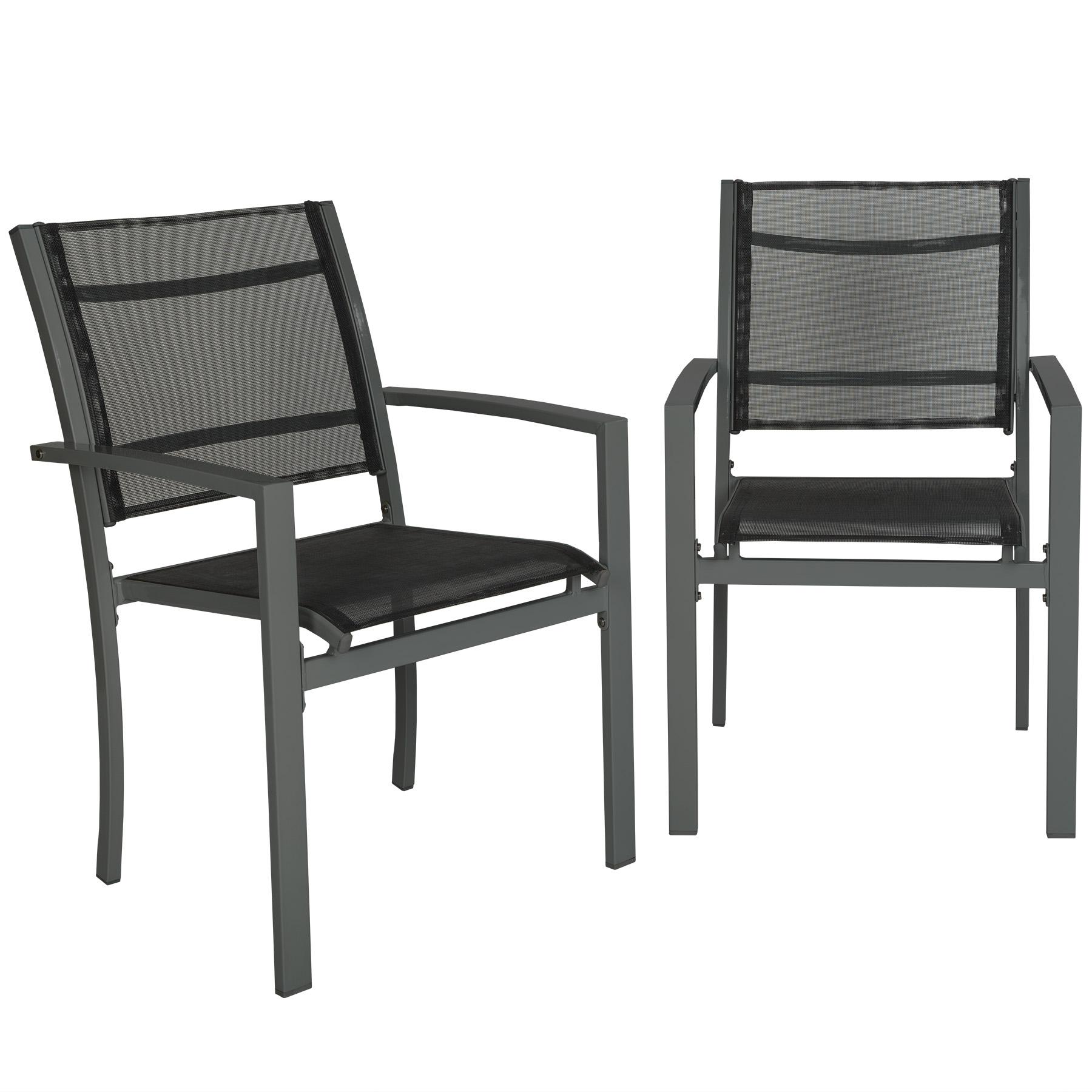 2er Set Gartenstuhl Balkonstühle Gartensessel Terrasse Metall Stuhl | EBay