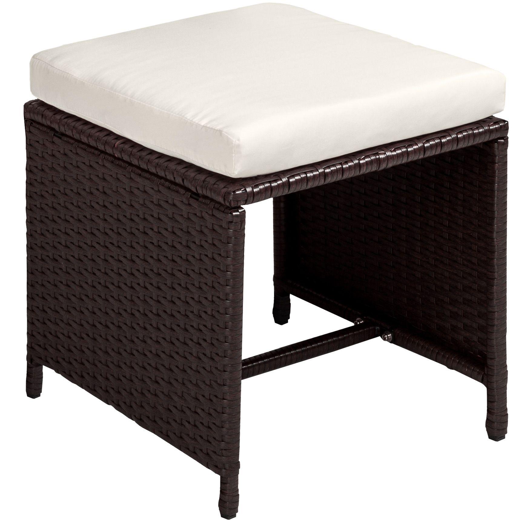 Set di mobili da giardino poli rattan arredamento 8 sedie tavolo 4 sgabelli ebay - Ebay mobili da giardino ...
