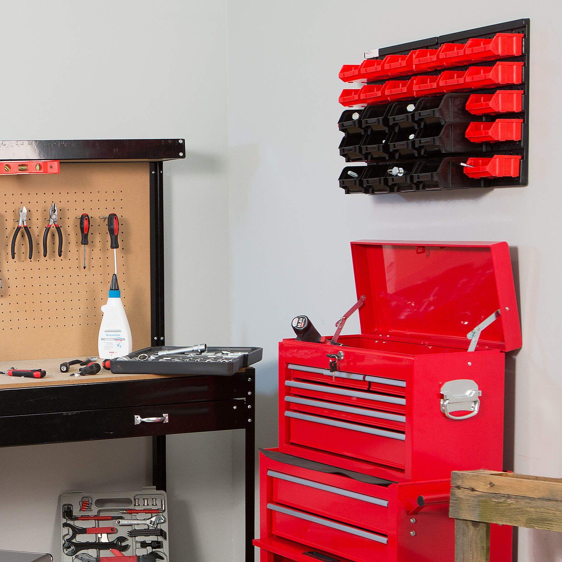 etag re des 31 el ments bac bec boites de rangement combinaison murale garage ebay. Black Bedroom Furniture Sets. Home Design Ideas