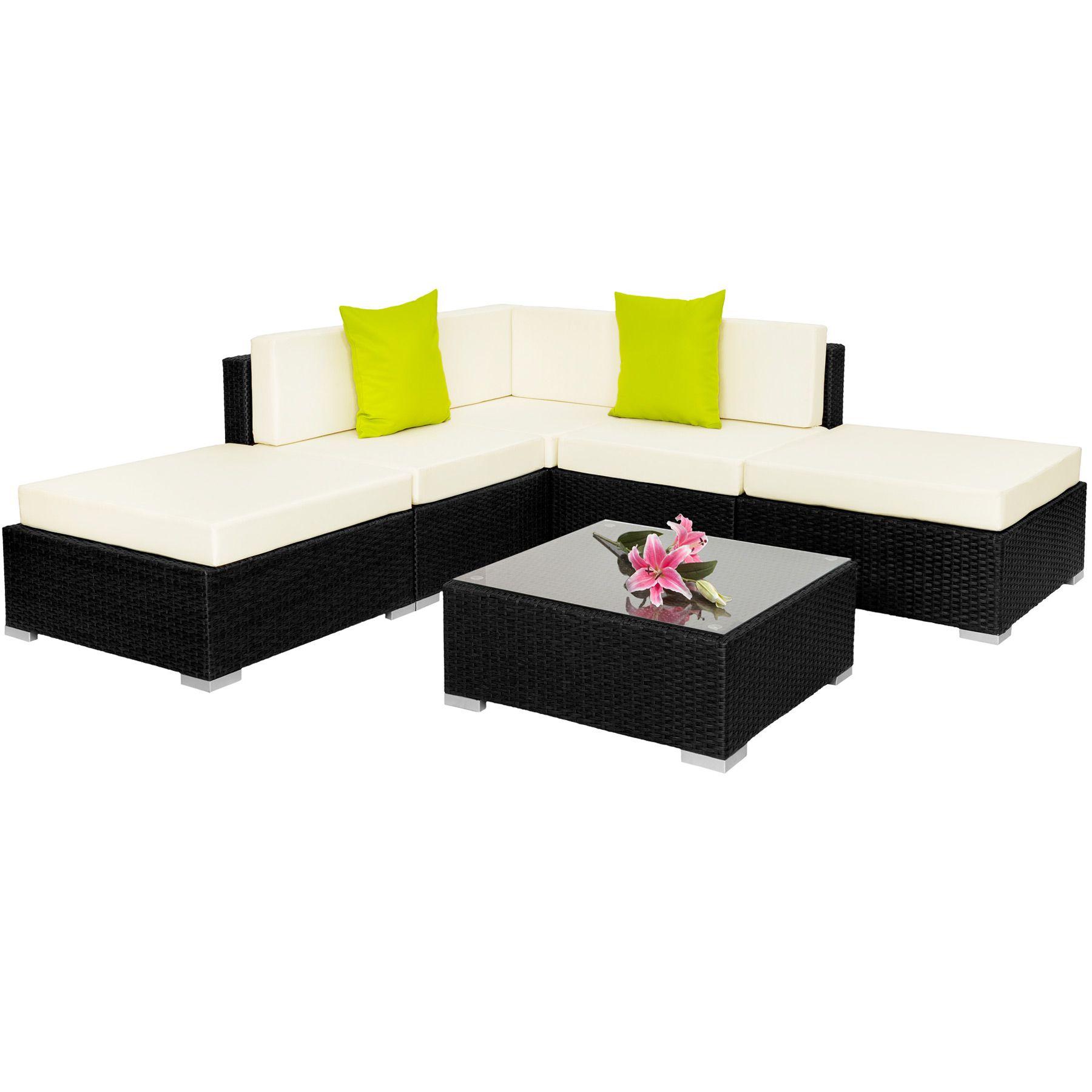 Alu Poly Rattan Sitzgruppe Lounge Rattanmöbel Gartenmöbel Couch ...