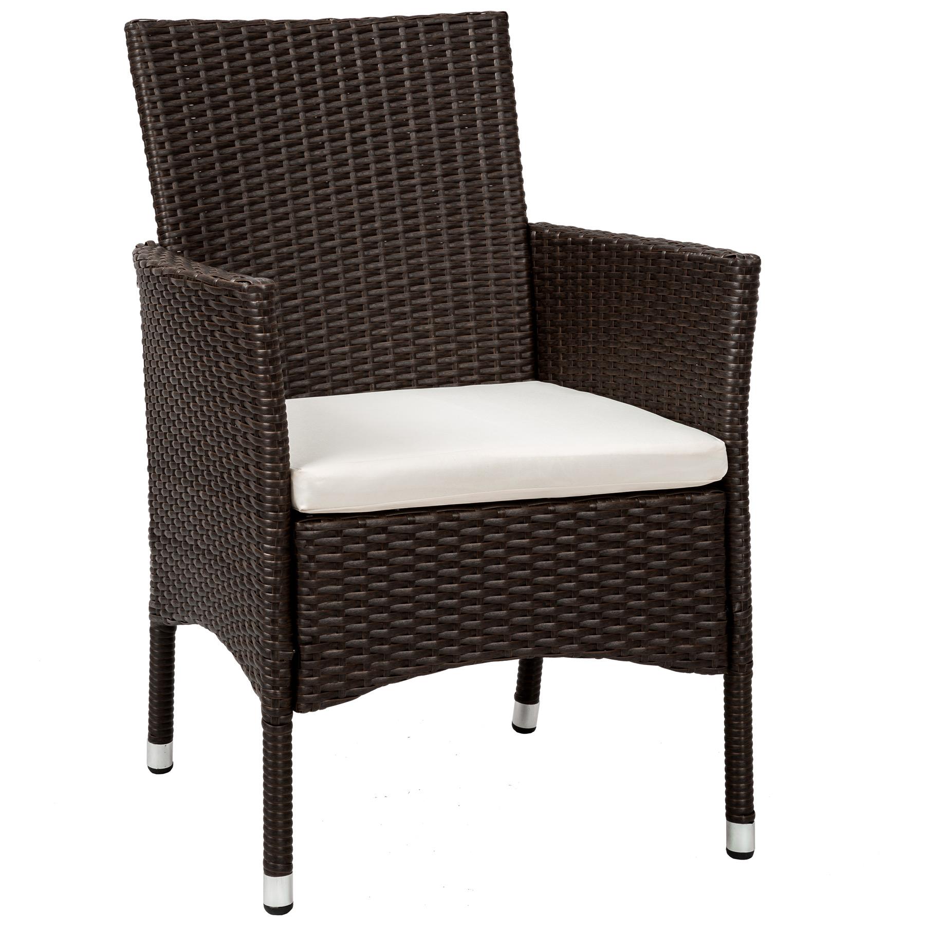 2er set poly rattan gartenstuhl stuhl sessel hochlehner kissen 2 bez ge antik ebay. Black Bedroom Furniture Sets. Home Design Ideas