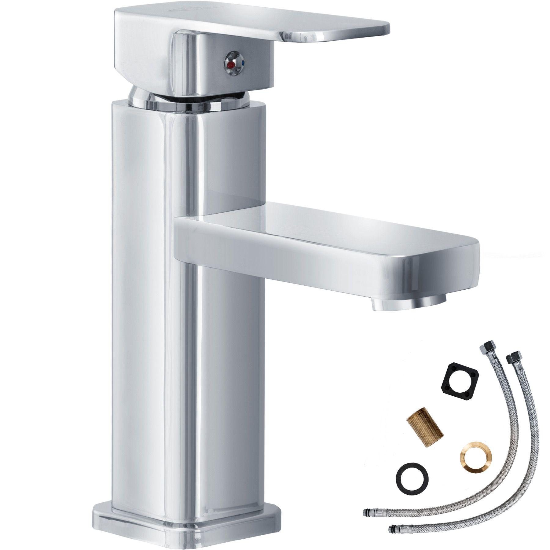 Robinet levier unique mitigeur salle de bain lavabo - Robinetterie design salle de bain ...