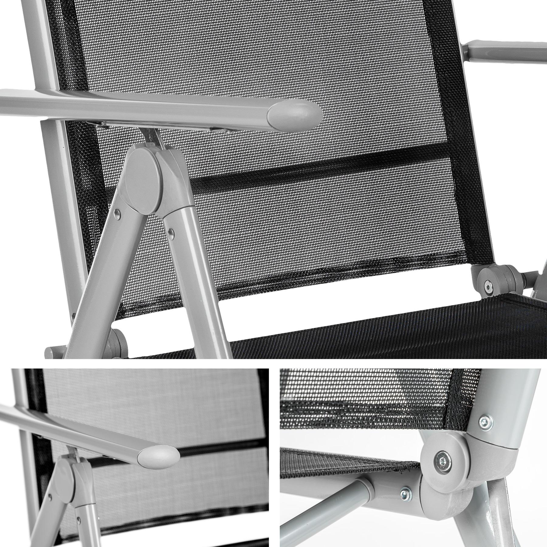 Alluminio set mobili da giardino 8 1 tavolo sedie for Sedie in alluminio