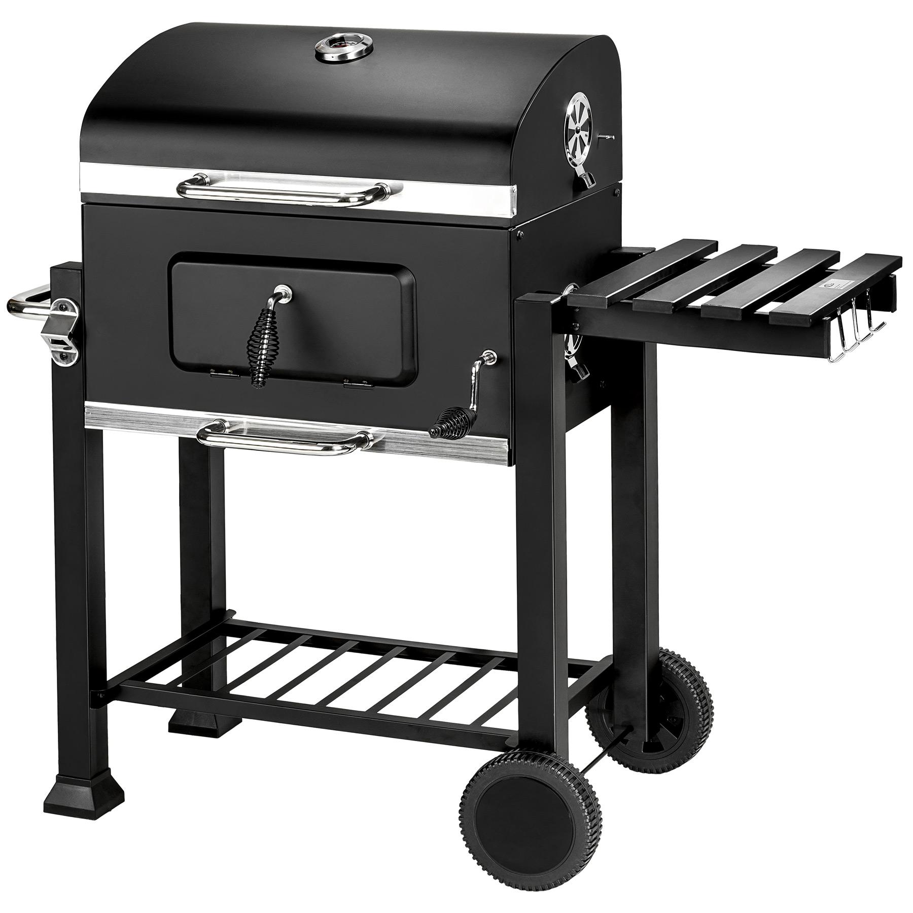 bbq grill a legna e carbone barbecue smoker carbonella griglia ebay. Black Bedroom Furniture Sets. Home Design Ideas