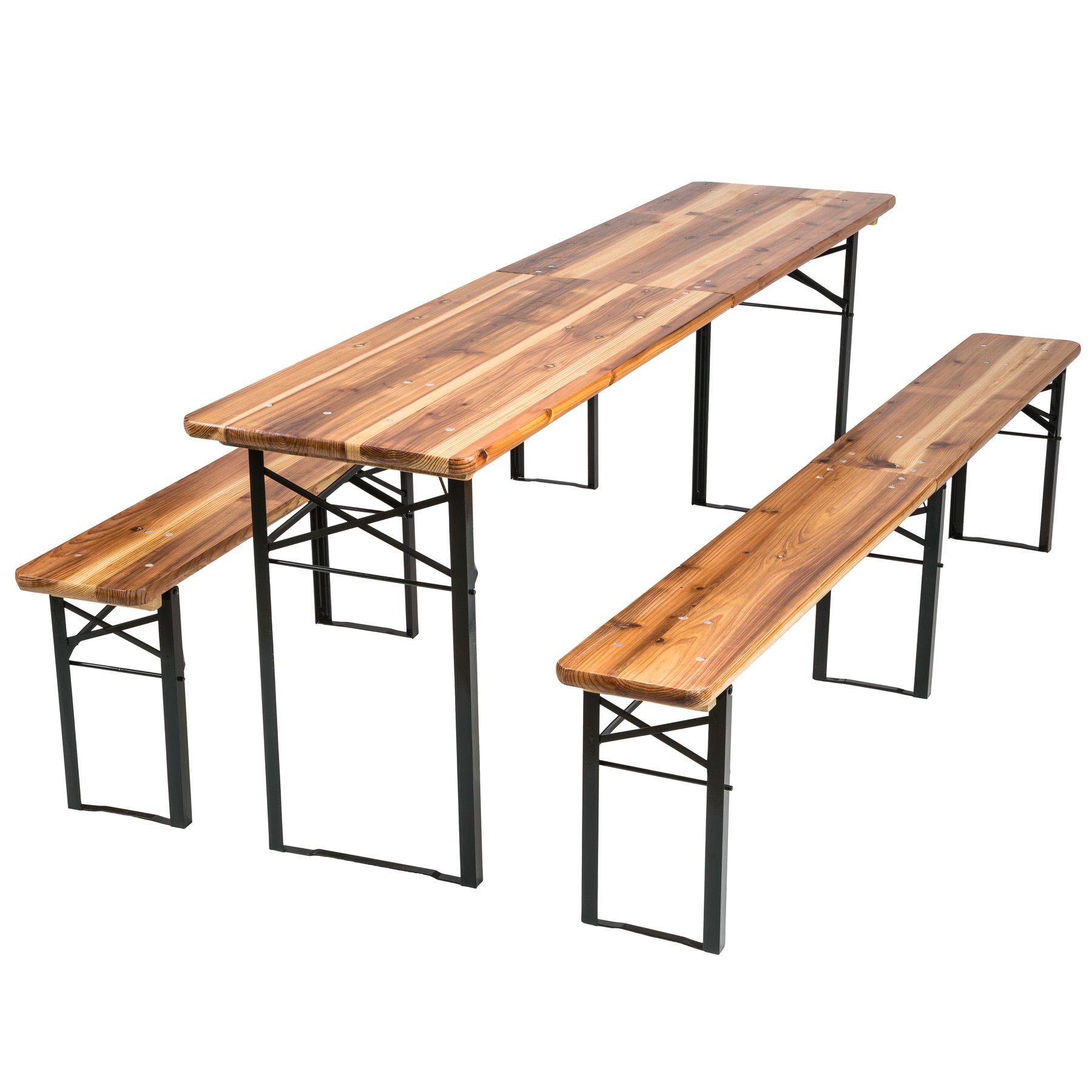 Tavoli E Panche Da Birreria Usati.Birreria Tavolo E Panche Richiudibile Tavolo Giardino In Legno 219
