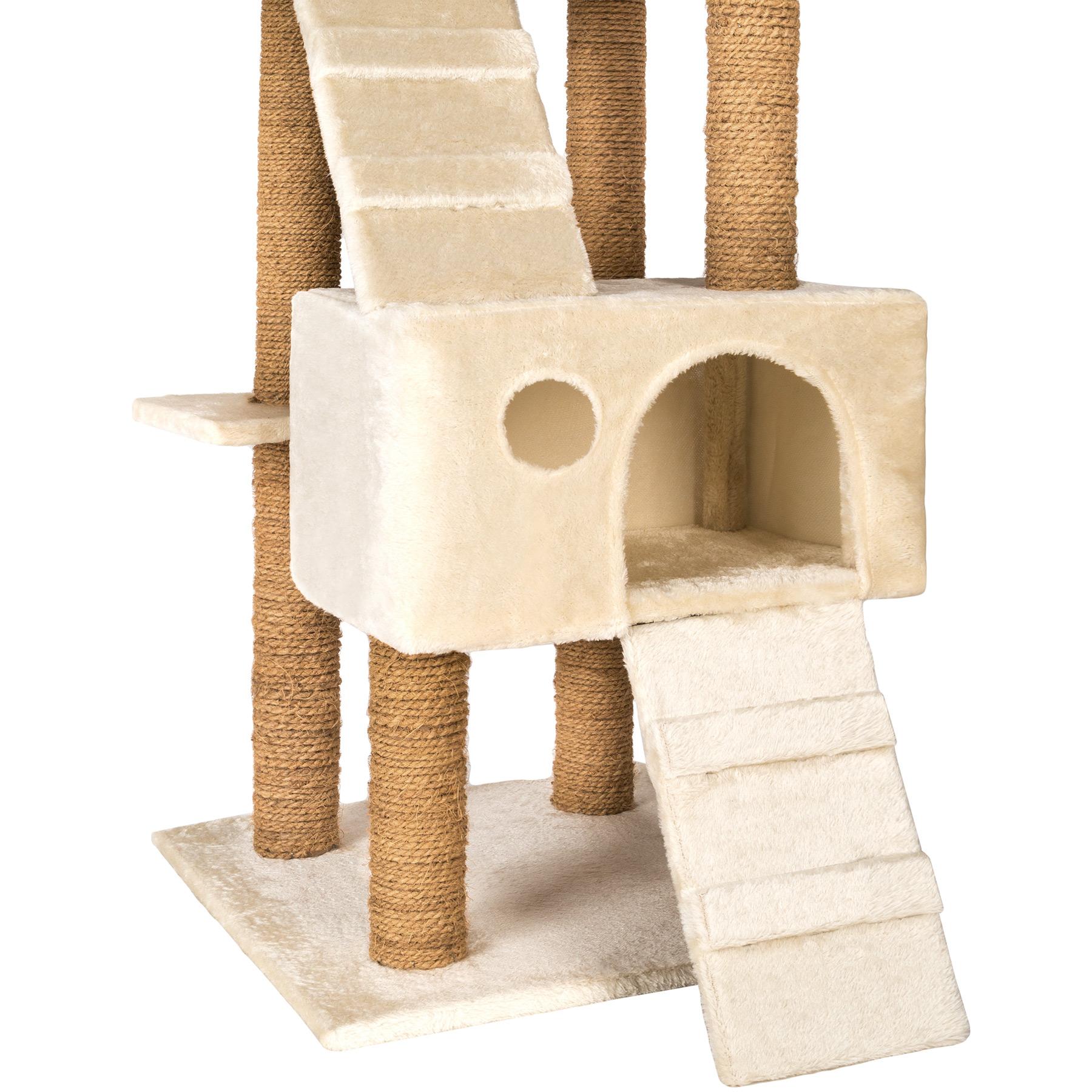 arbre chat griffoir grattoir jouet geant 2 grottes 169cm. Black Bedroom Furniture Sets. Home Design Ideas
