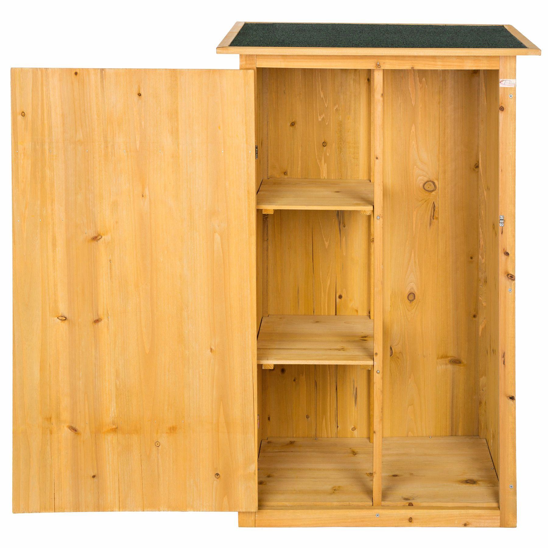 armoire de jardin remise pour outils abri atelier bois toit plat coffre cabane ebay. Black Bedroom Furniture Sets. Home Design Ideas