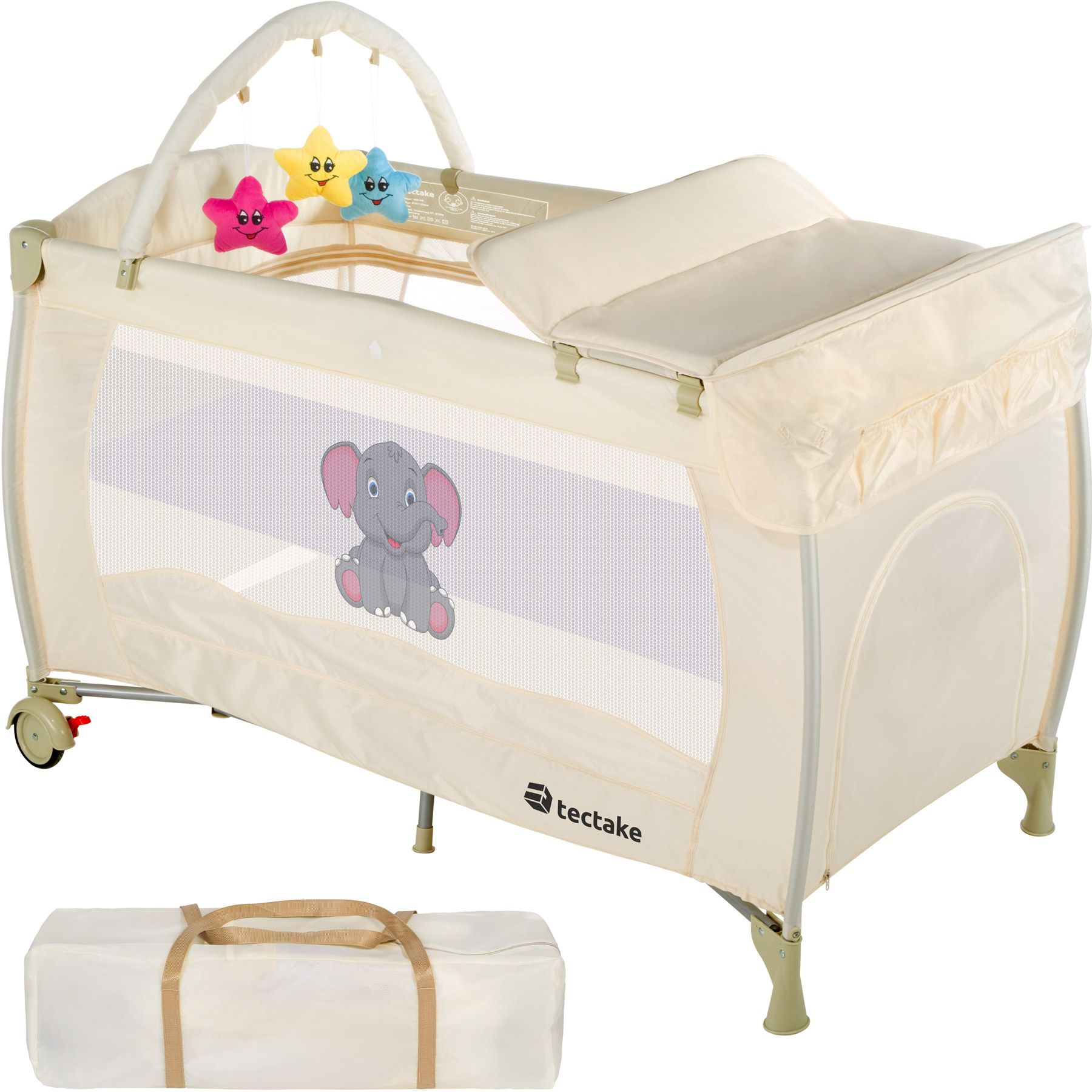babybett kinder baby reisebett kinderreisebett kinderbett laufstall neu beige ebay. Black Bedroom Furniture Sets. Home Design Ideas
