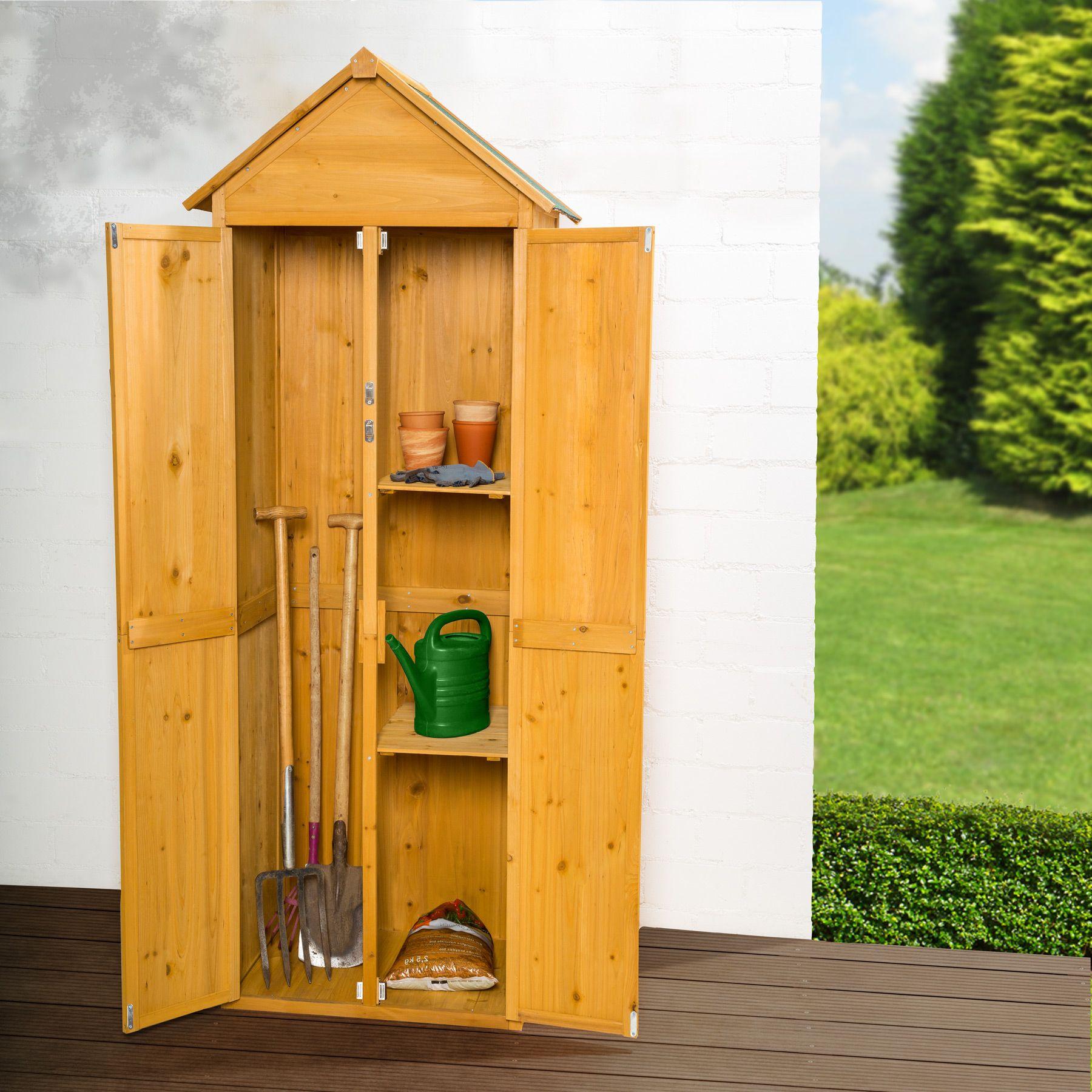armoire de jardin remise pour outils abri atelier bois toit pente