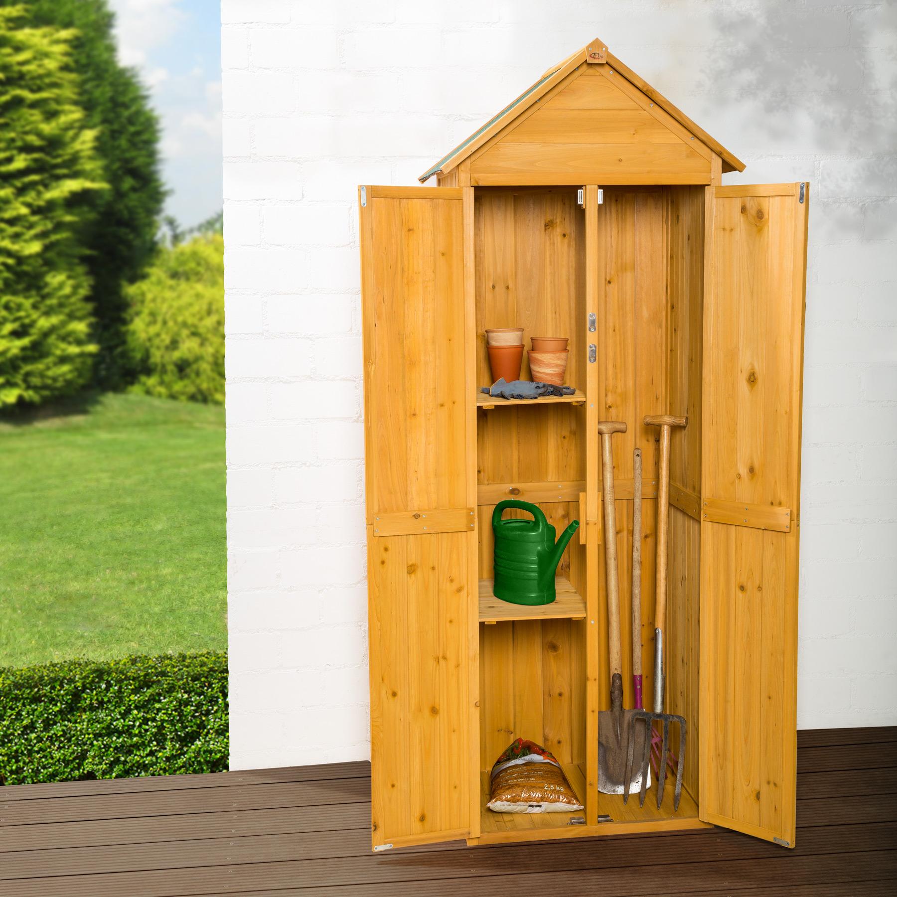 Armoire De Jardin Remise Pour Outils Abri Atelier Bois Toit Pente  # Abri De Jardin Outils