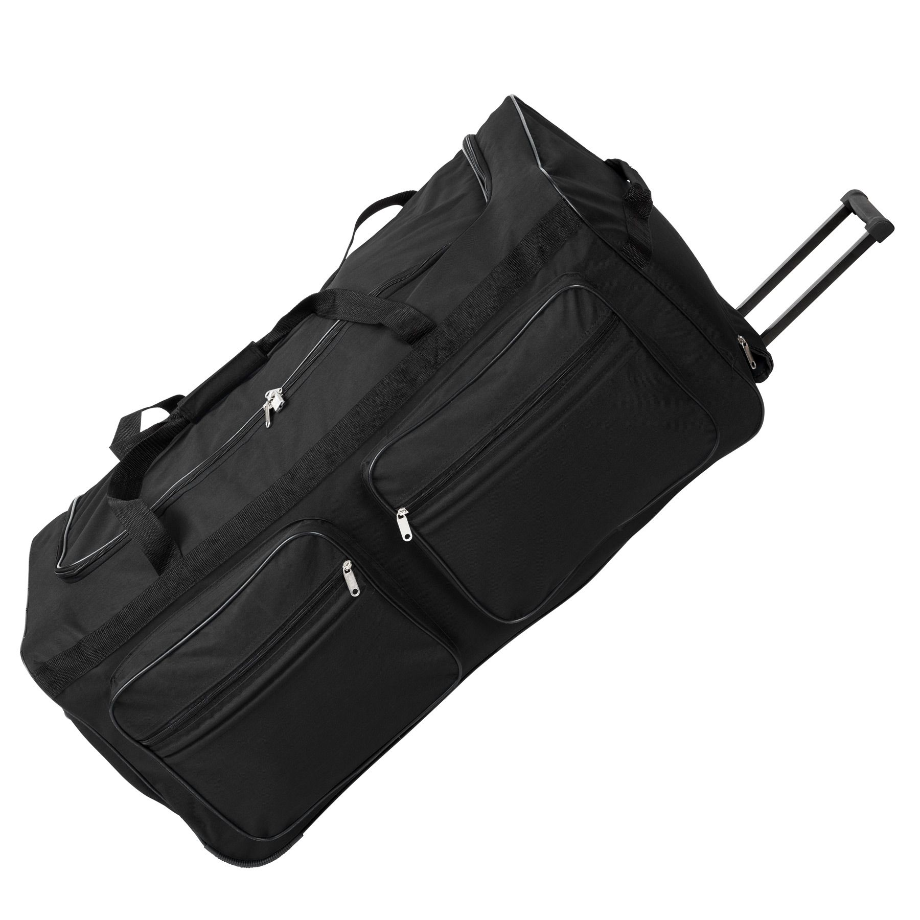 sac de voyage xxl valise trolley l g re sport bagage roulettes 160 litres noir ebay. Black Bedroom Furniture Sets. Home Design Ideas