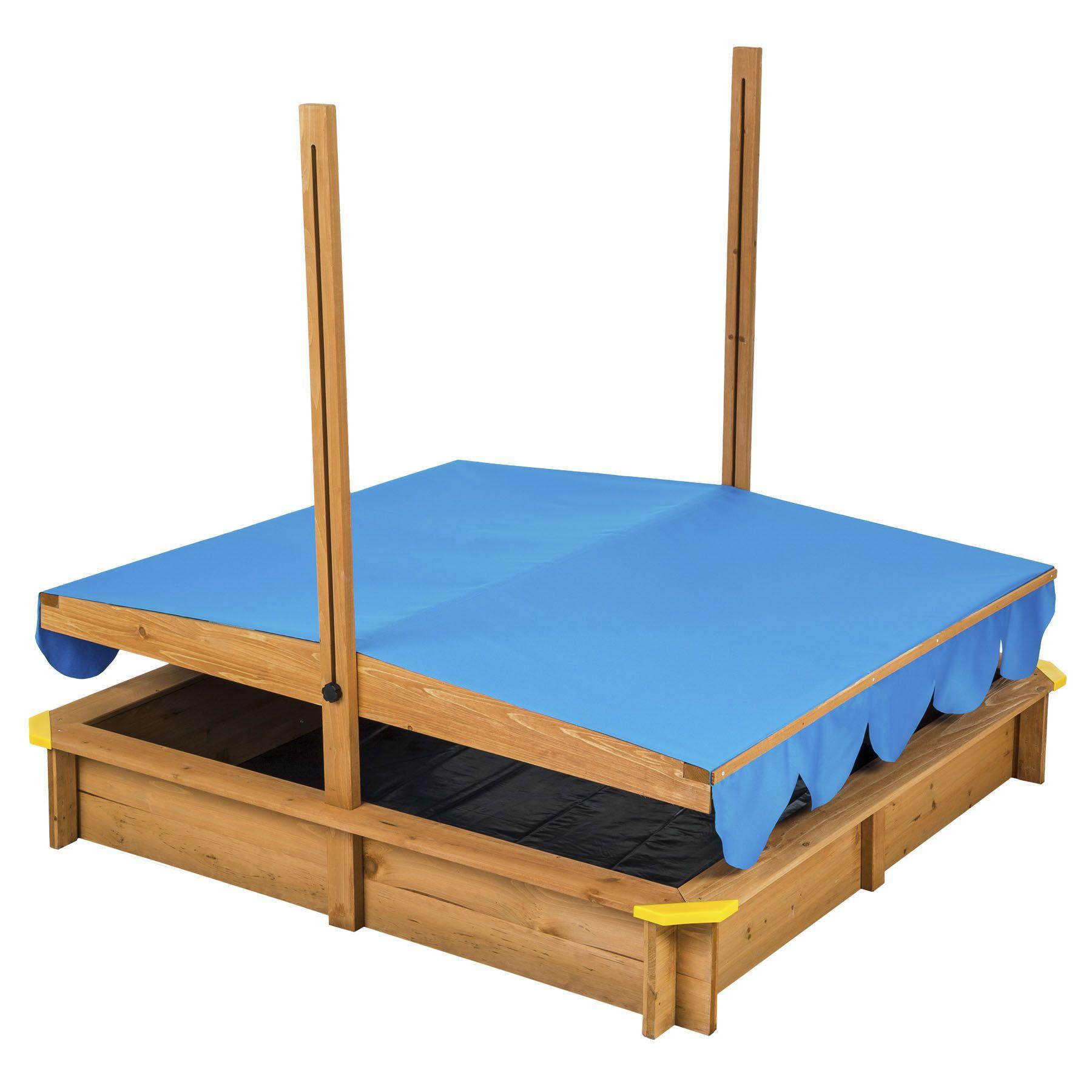 bac sable avec toit r glable jeux de plein bois b che. Black Bedroom Furniture Sets. Home Design Ideas