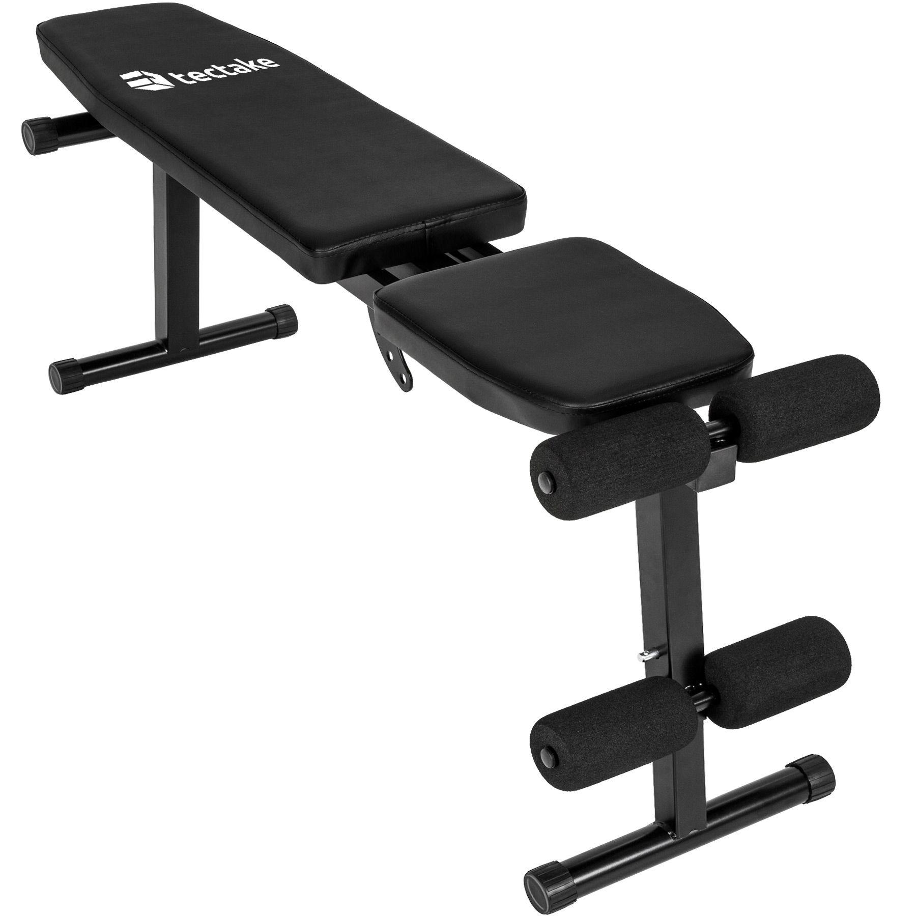 Banc de musculation r glable d 39 exercice plat bench fitness entrainement sportif ebay - Banc de musculation plat ...