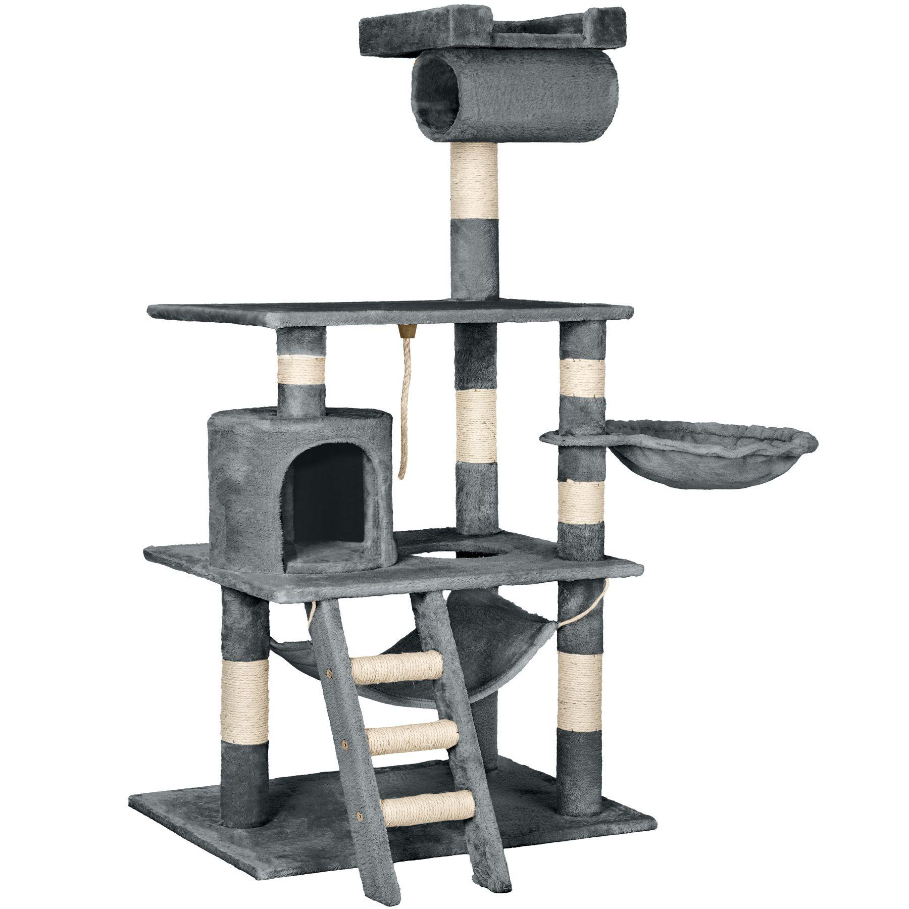 arbre chat griffoir grattoir geant avec hamac lit 141 cm. Black Bedroom Furniture Sets. Home Design Ideas