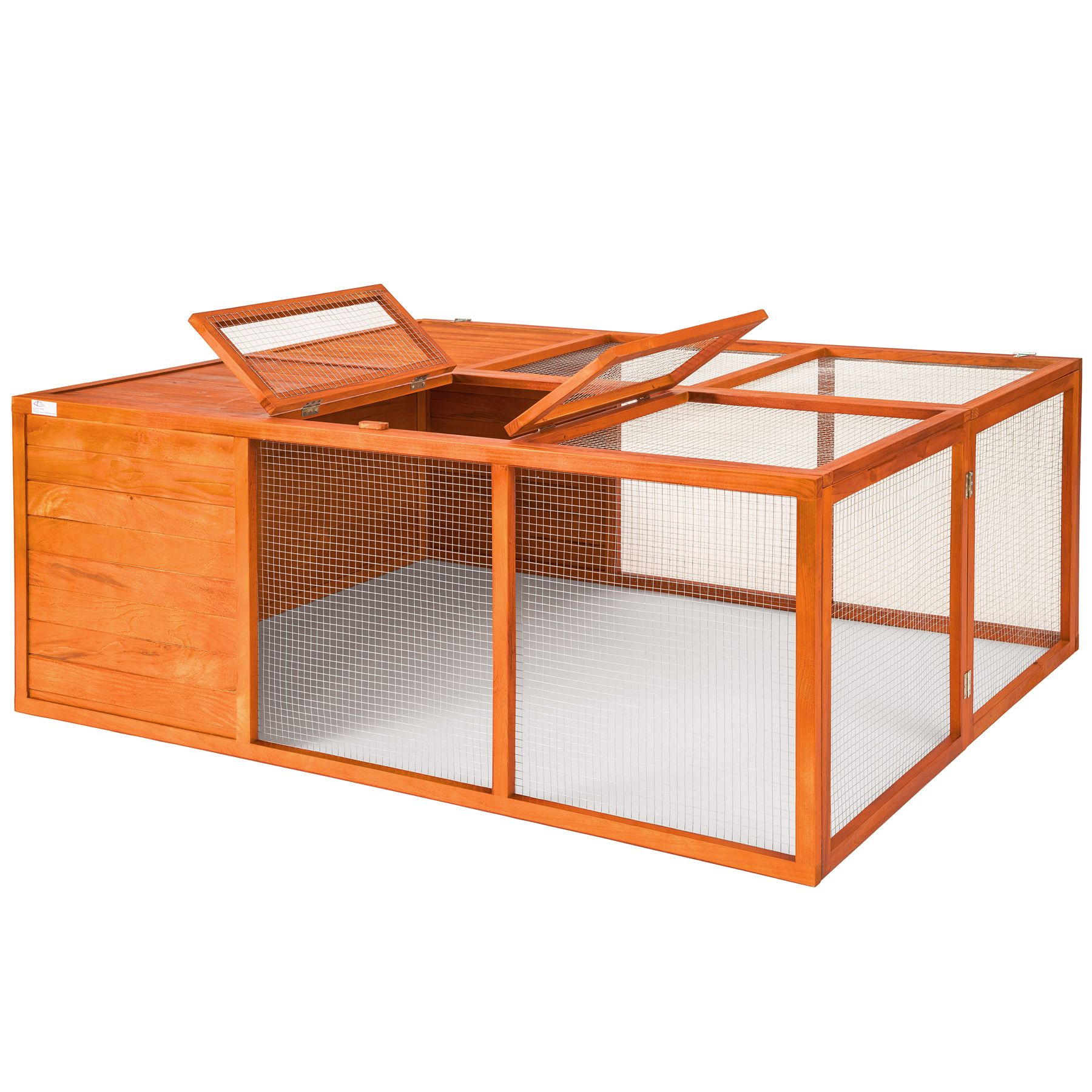 klappbarer kleintierstall hasenstall kaninchenstall freigehege freilauf gehege ebay. Black Bedroom Furniture Sets. Home Design Ideas