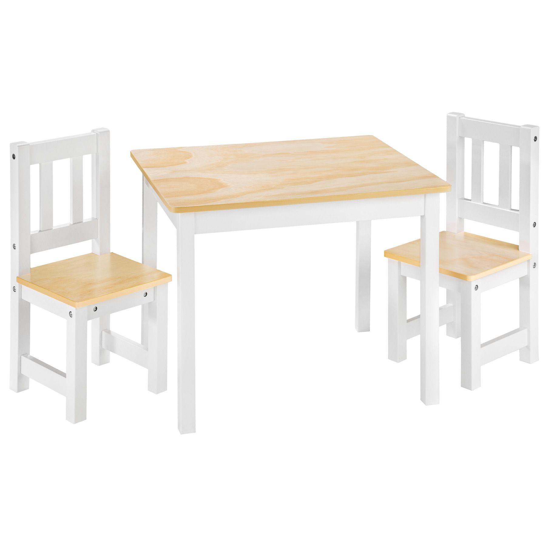 Detalles de Set mesa y 2 sillas infantil muebles para niños habitación madera bianco