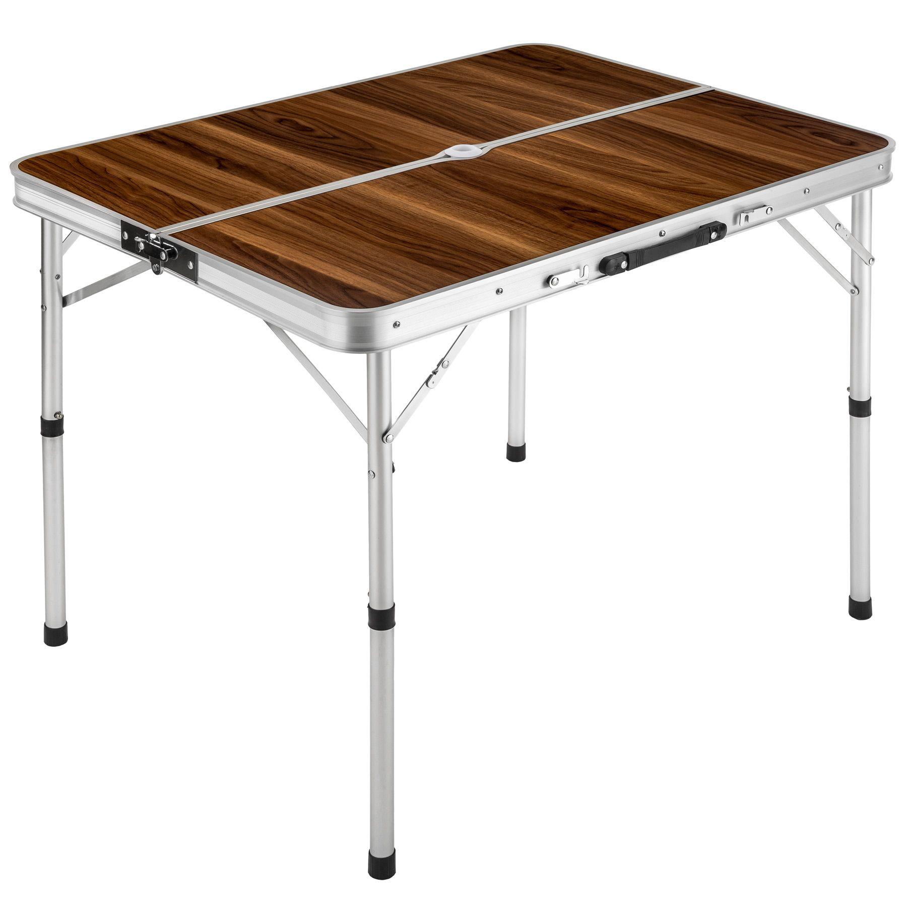 Eensemble table pliante valise avec 2 bancs camping aluminium pique ...
