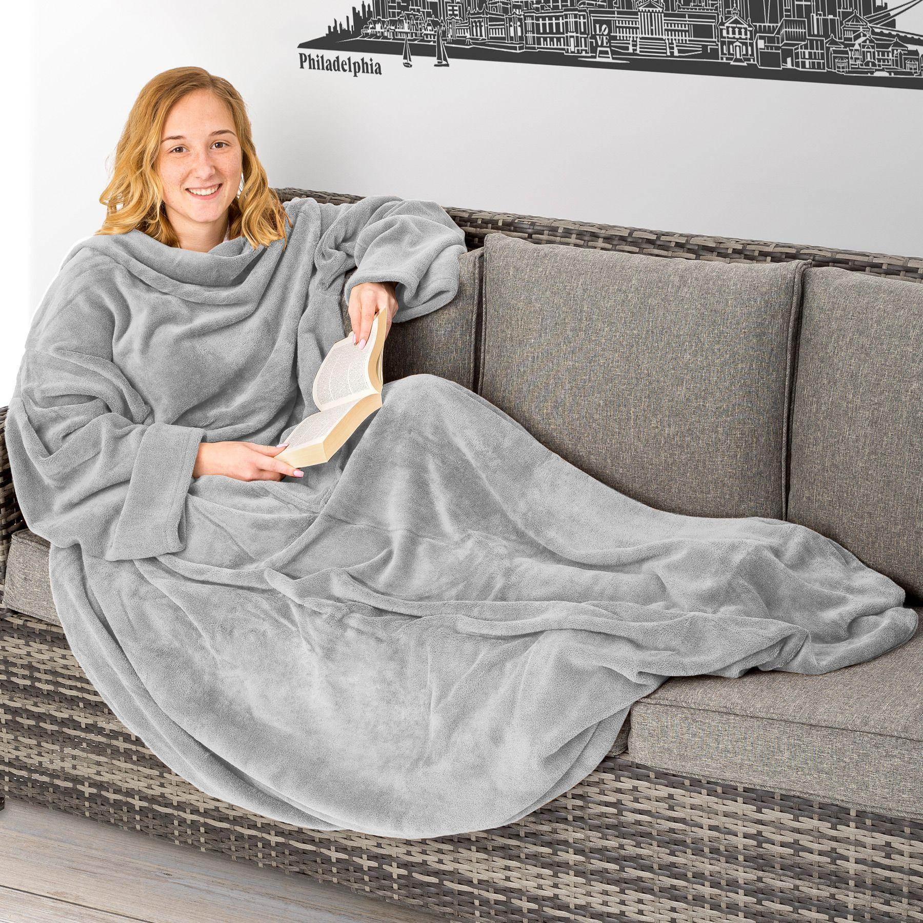 Decke ärmel: Kuscheldecke Mit Ärmel Wohndecke TV Decke Zum Anziehen Für