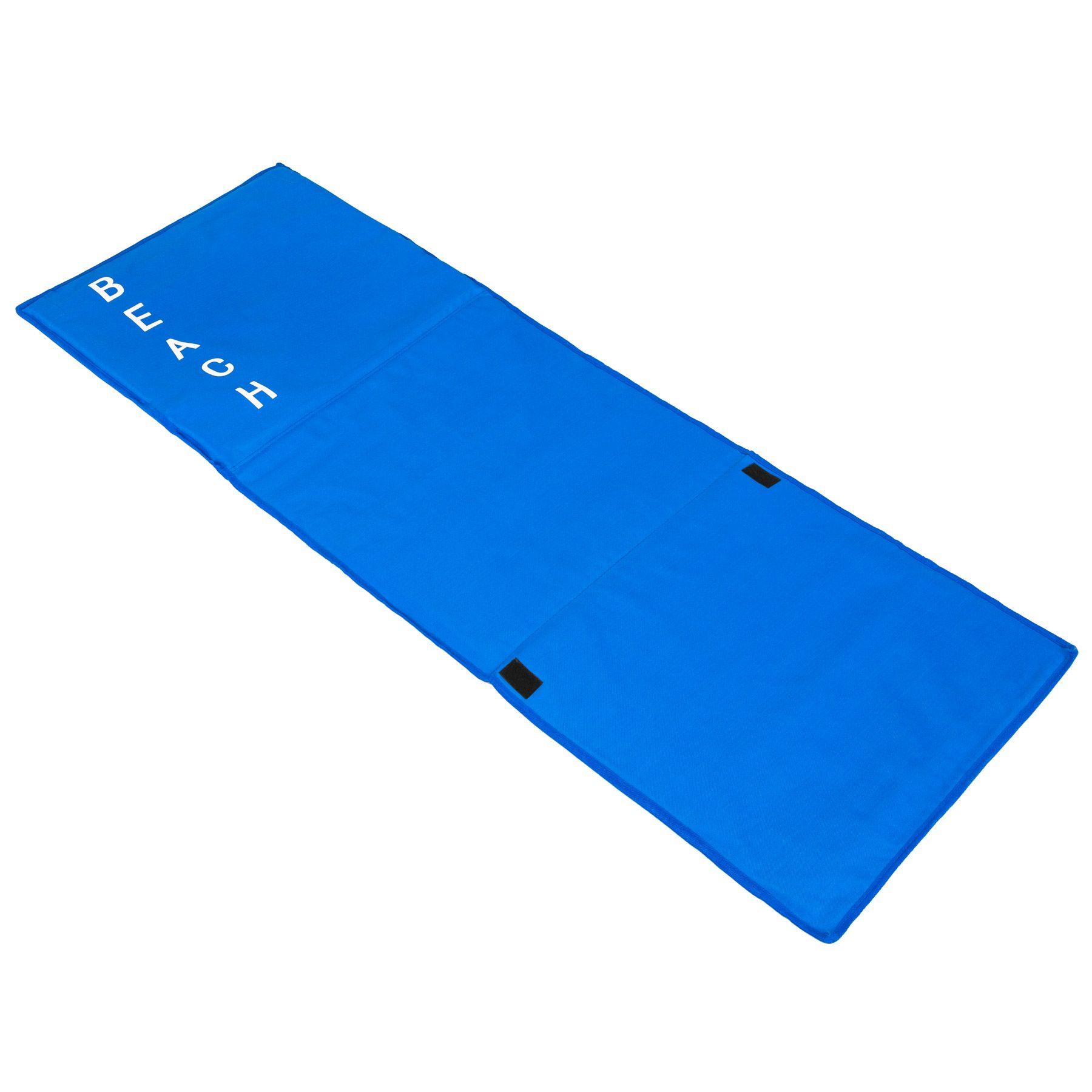 gepolsterte strandmatte verstellbare r ckenlehne matte strand liege lehne blau ebay. Black Bedroom Furniture Sets. Home Design Ideas