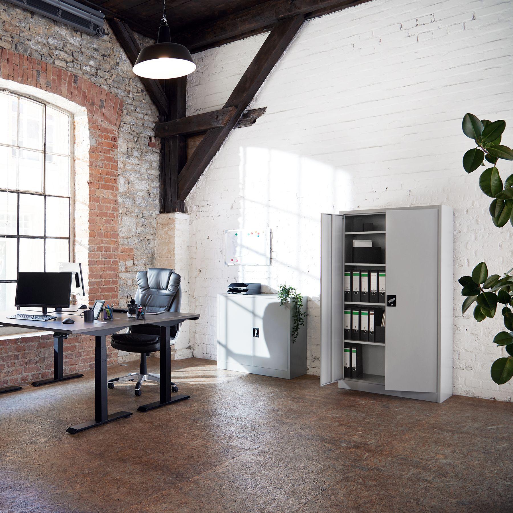 armoire de rangement metallique meuble de bureau armoire fichier 2 portes ebay. Black Bedroom Furniture Sets. Home Design Ideas