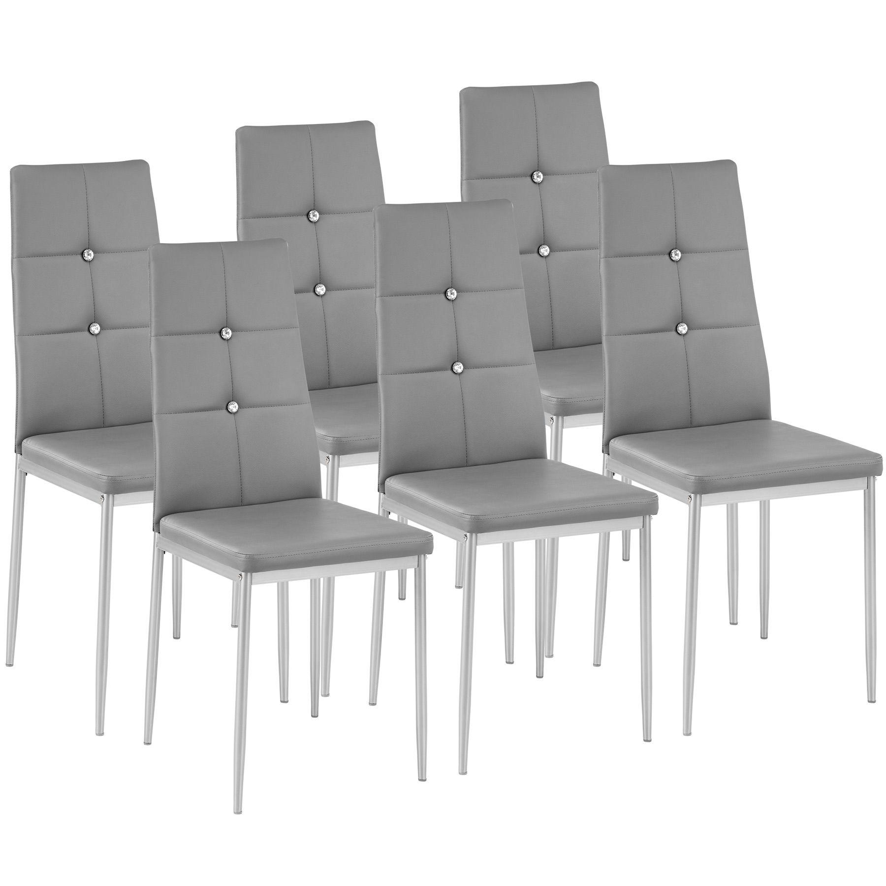 meuble sur Détails de cuisine manger design Chaise à chaises salle gris de ensemble salon 6x N0mwvO8n
