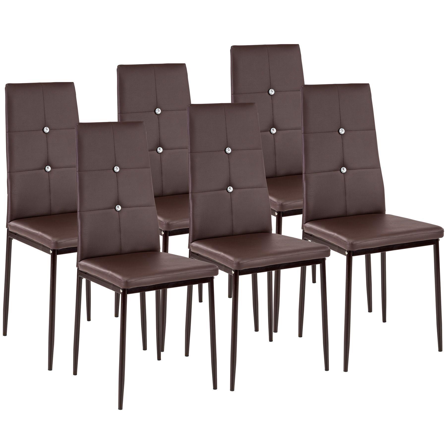 Set di 6 sedia per sala da pranzo tavolo cucina eleganti for Cucina con sala da pranzo