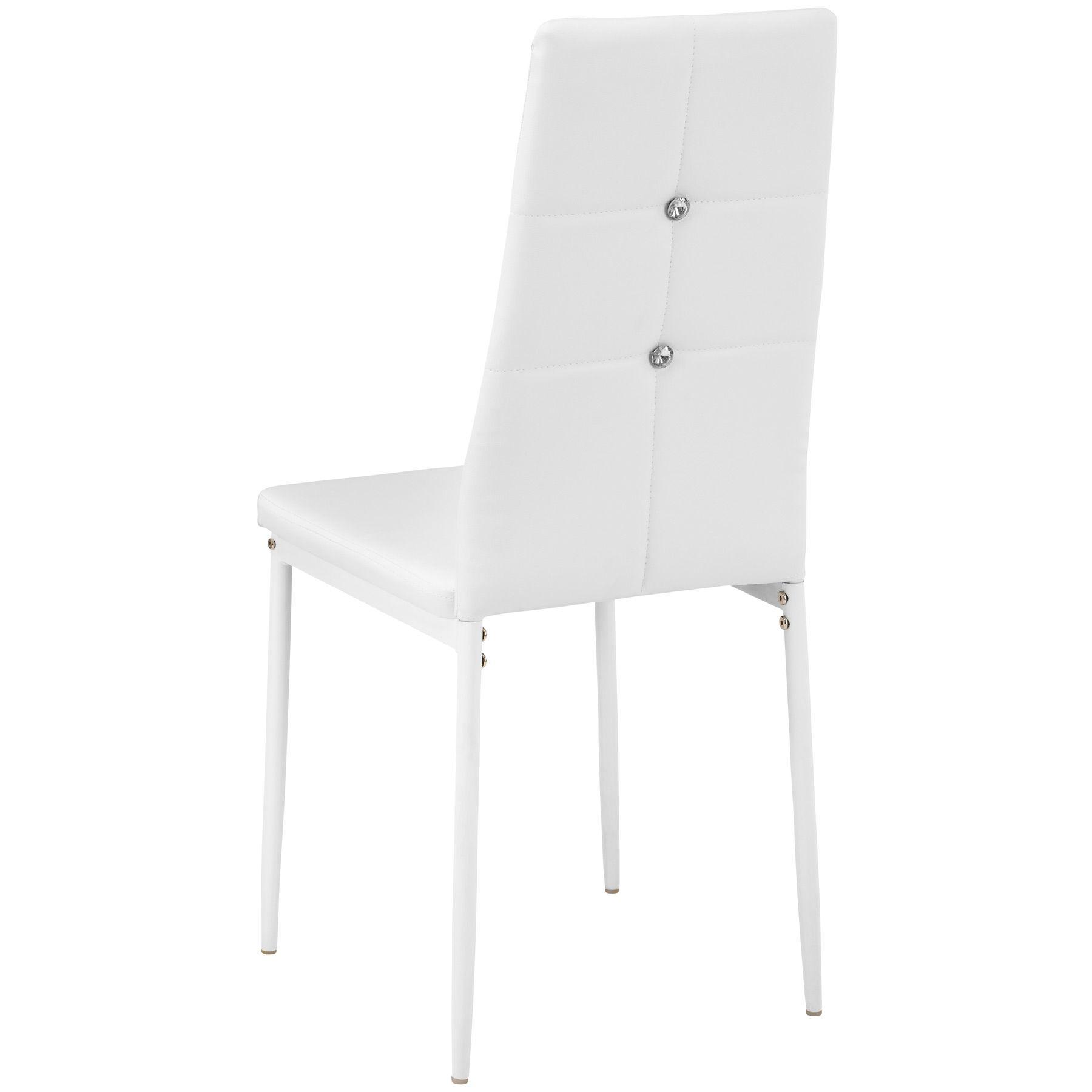 Set di 4 sedia per sala da pranzo tavolo cucina eleganti for Cucina con sala da pranzo