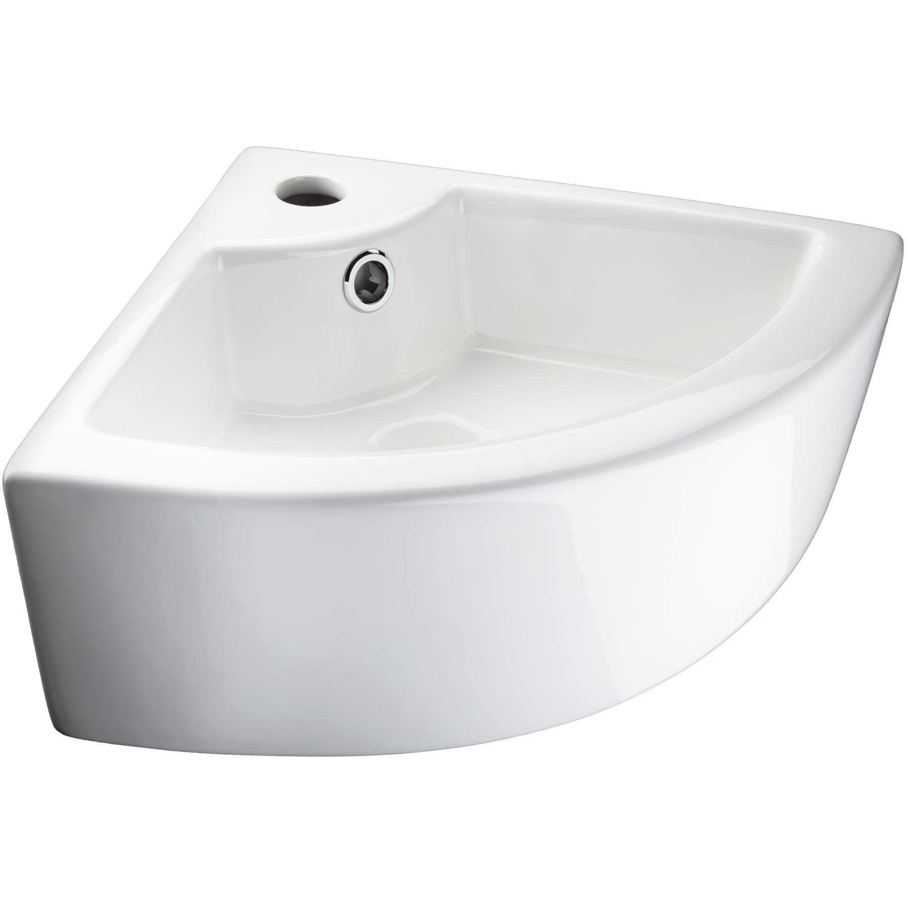 Vasque D Angle De Salle De Bain détails sur lave-mains d'angle lavabo céramique salle de bain vasque 45 x  33 x 13 cm blanc