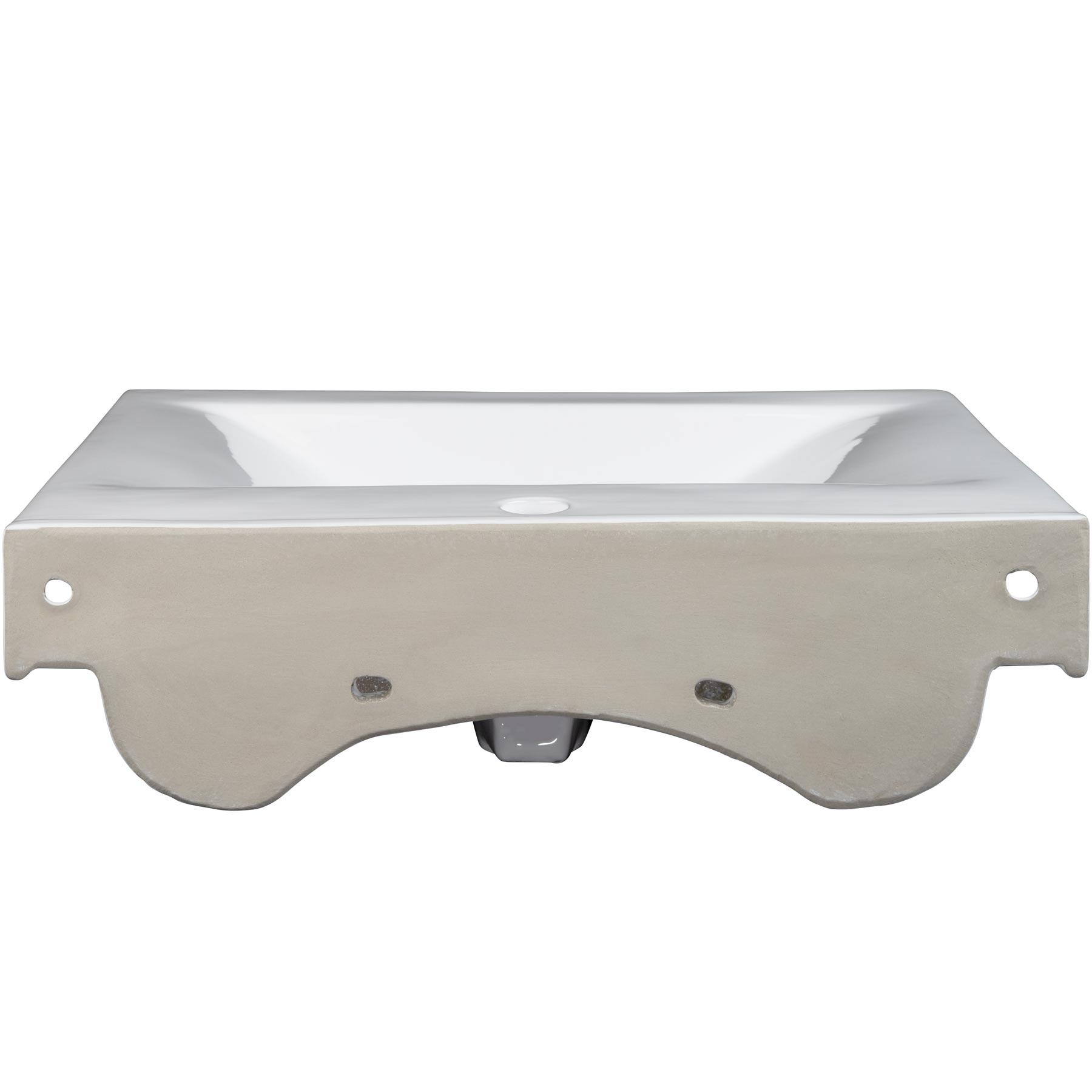 Lavabo Vasque De Salle De Bain Rectangulaire Design En Céramique 61,5 Cm X  46,5 Cm X 9 Cm Blanc TECTAKE. U2022 Voici Le Lavabo Au Design Moderne Quu0027il  Vous Faut ...