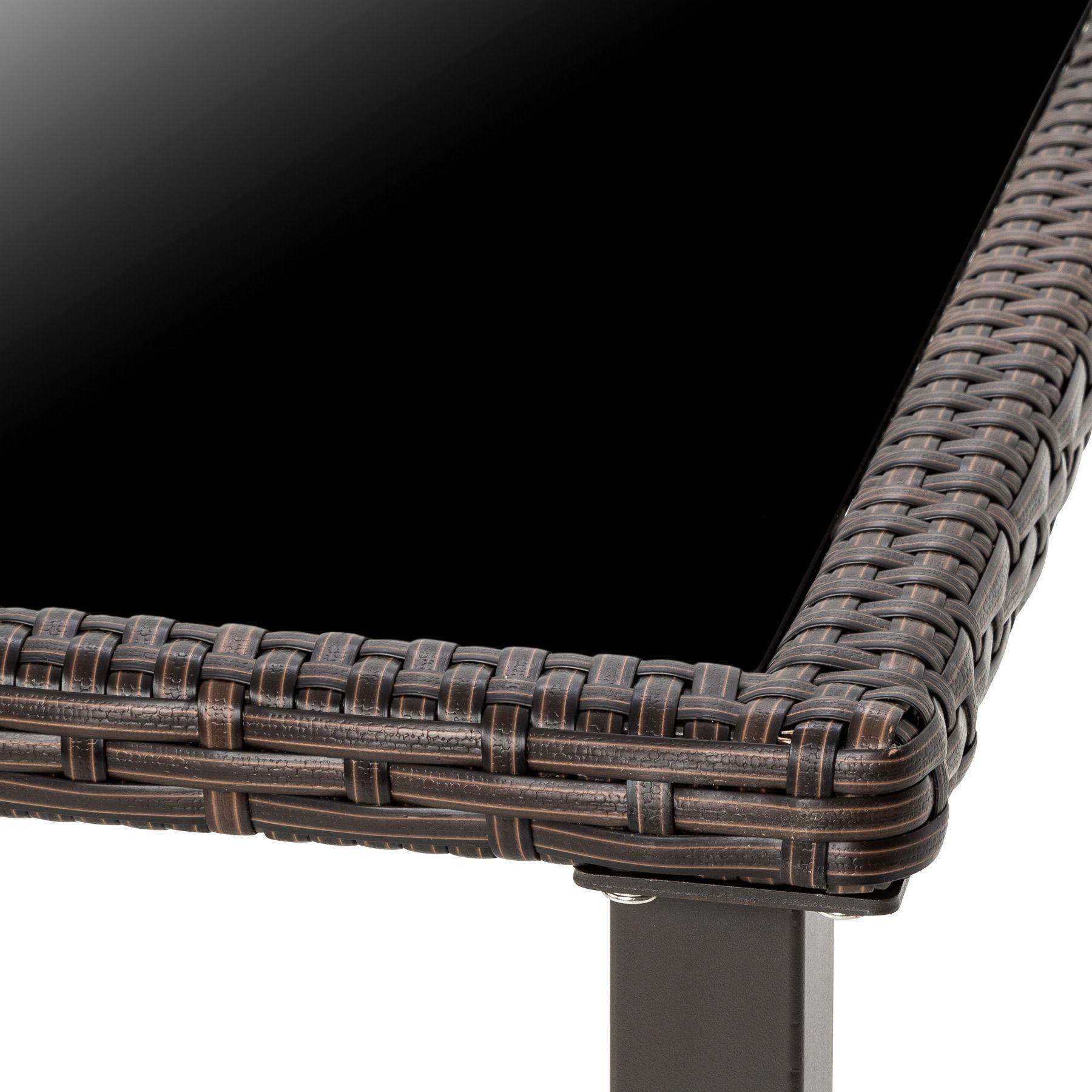 Conjunto muebles de jardín terraza ratán sintético exterior 4 sillas ...