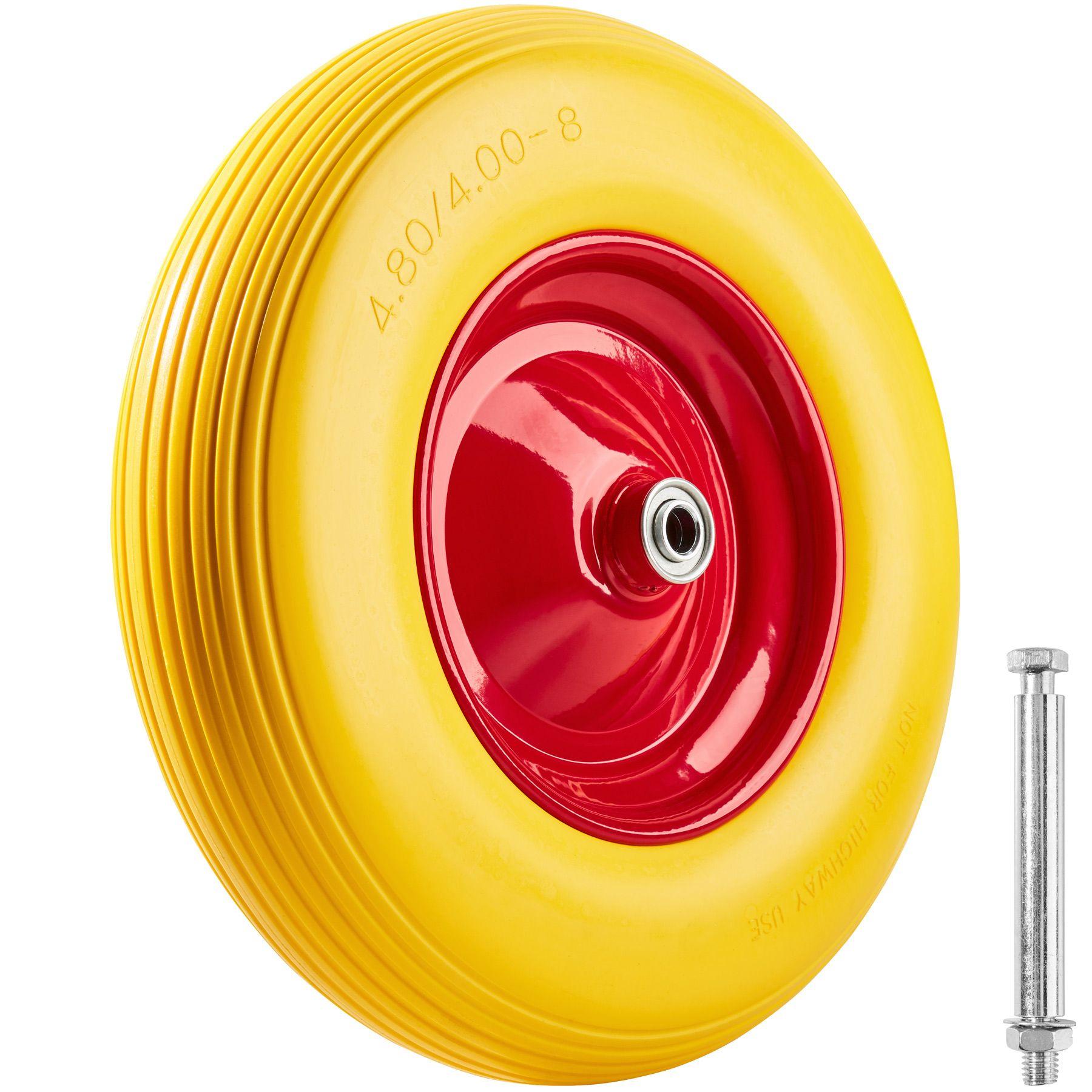 Pannensicheres Vollgummi Schubkarrenrad Achse Reifen Ersatzrad Sackkarren Rad