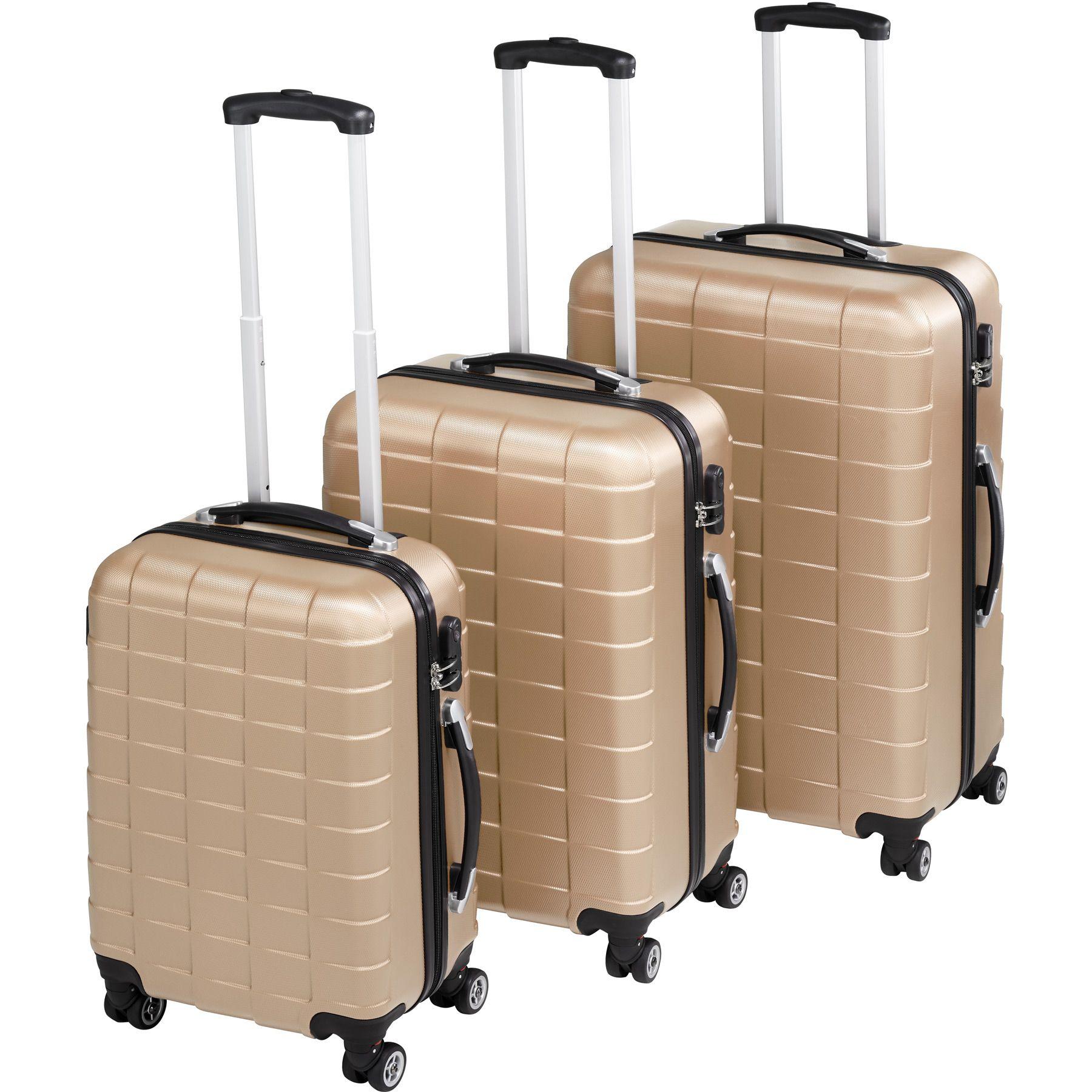 abs reisekoffer 3er set trolley kofferset. Black Bedroom Furniture Sets. Home Design Ideas