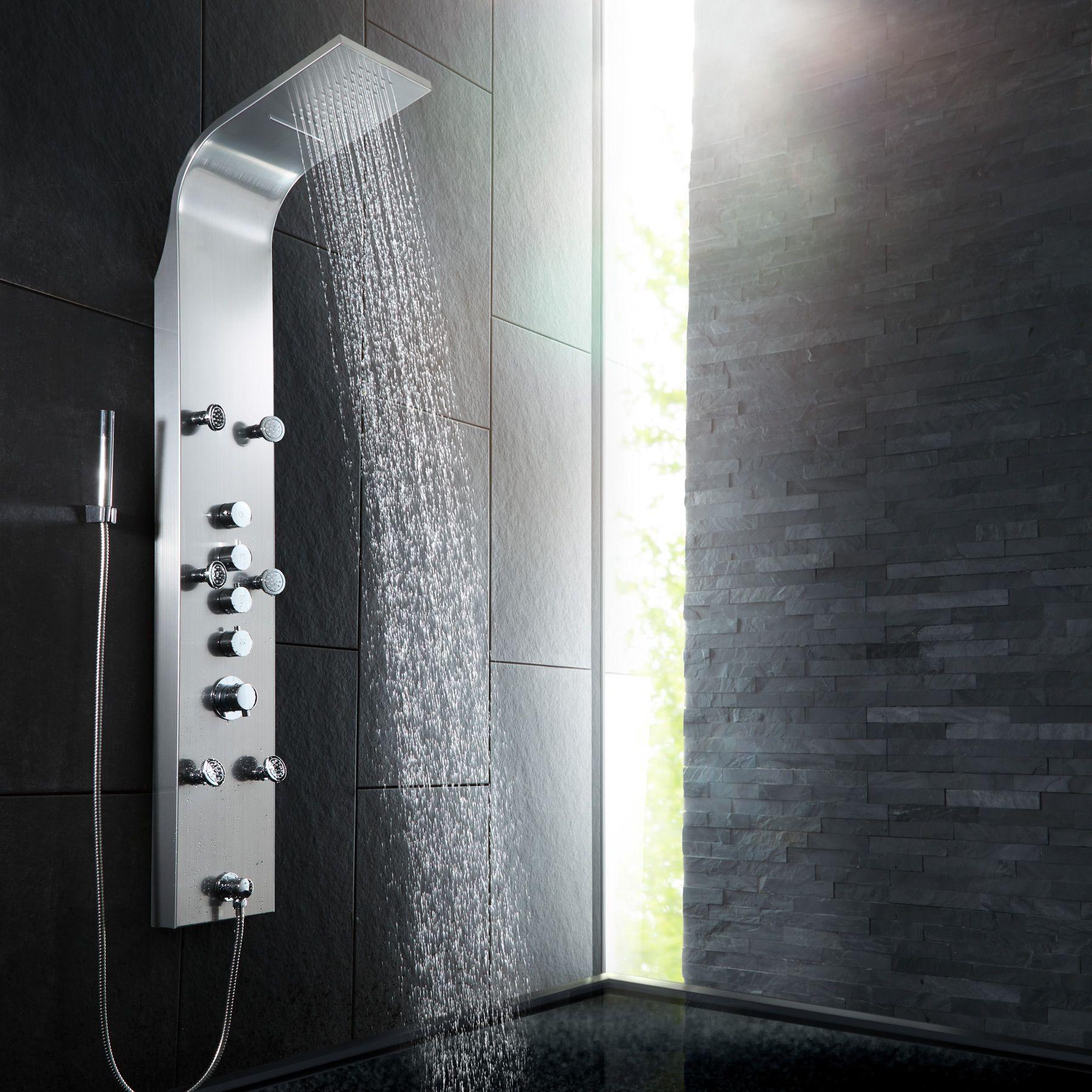 colonne de douche effet massage salle de bain pluie robinet chute d 39 eau set kit ebay. Black Bedroom Furniture Sets. Home Design Ideas