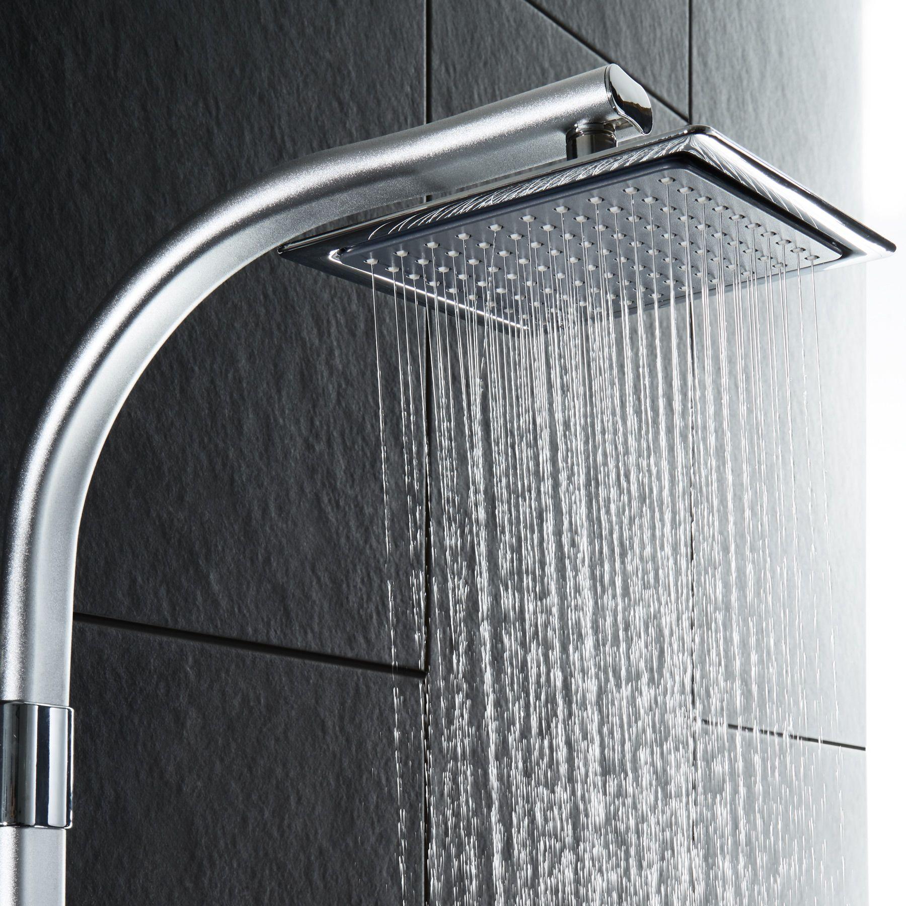 duschsystem regendusche duschset mit handbrause seifenablage duscharmatur dusche ebay. Black Bedroom Furniture Sets. Home Design Ideas