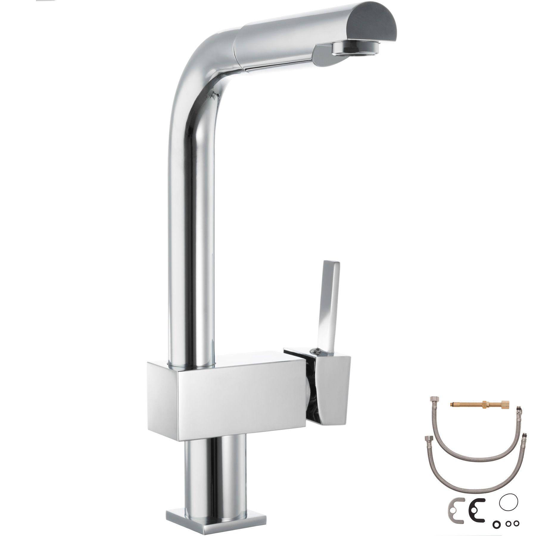 Wasserhahn Küchenarmatur Küche drehbar Wasserkran hoch ...