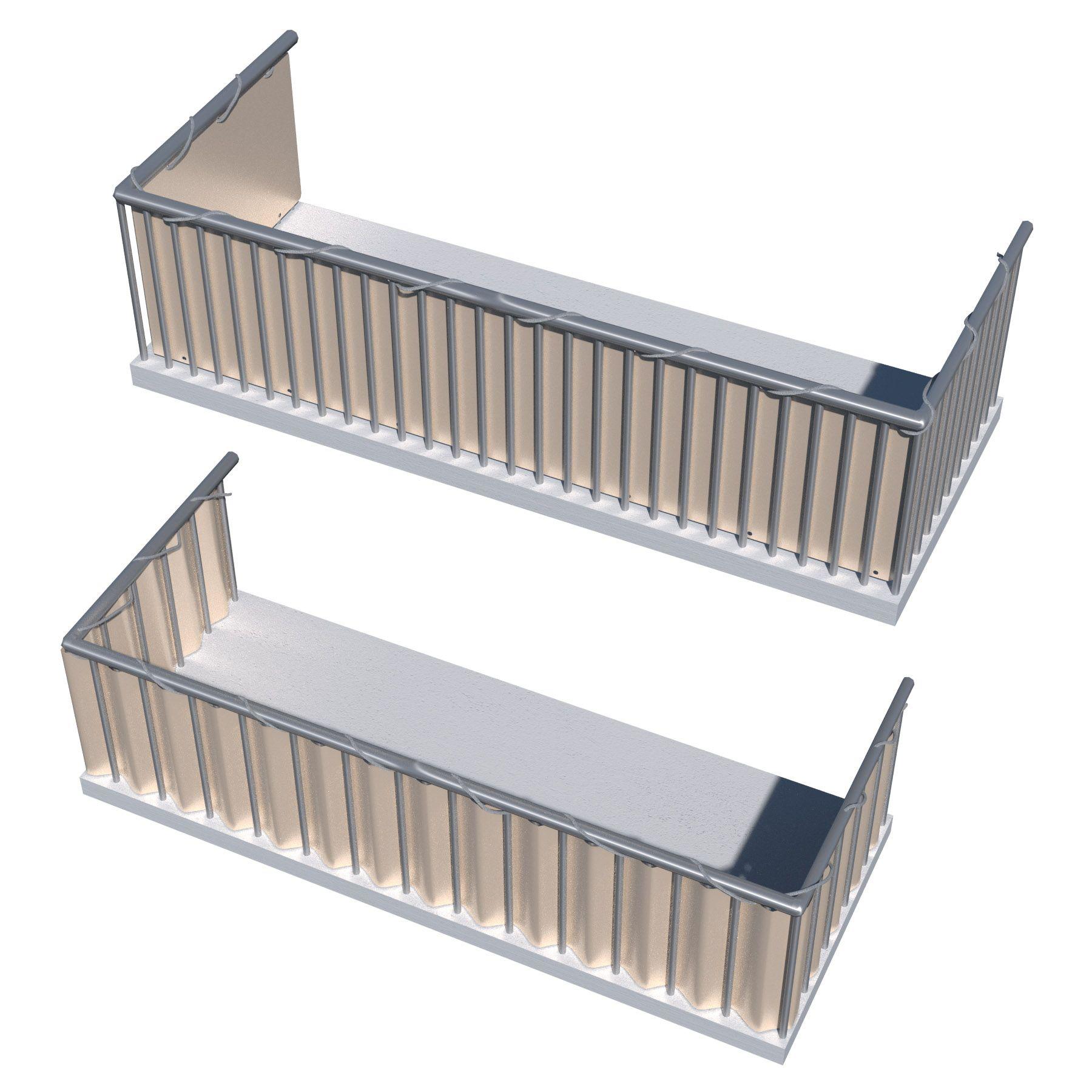 Brise vue pour balcon protection visuelle contre le vent jardin 0,9x6m crème