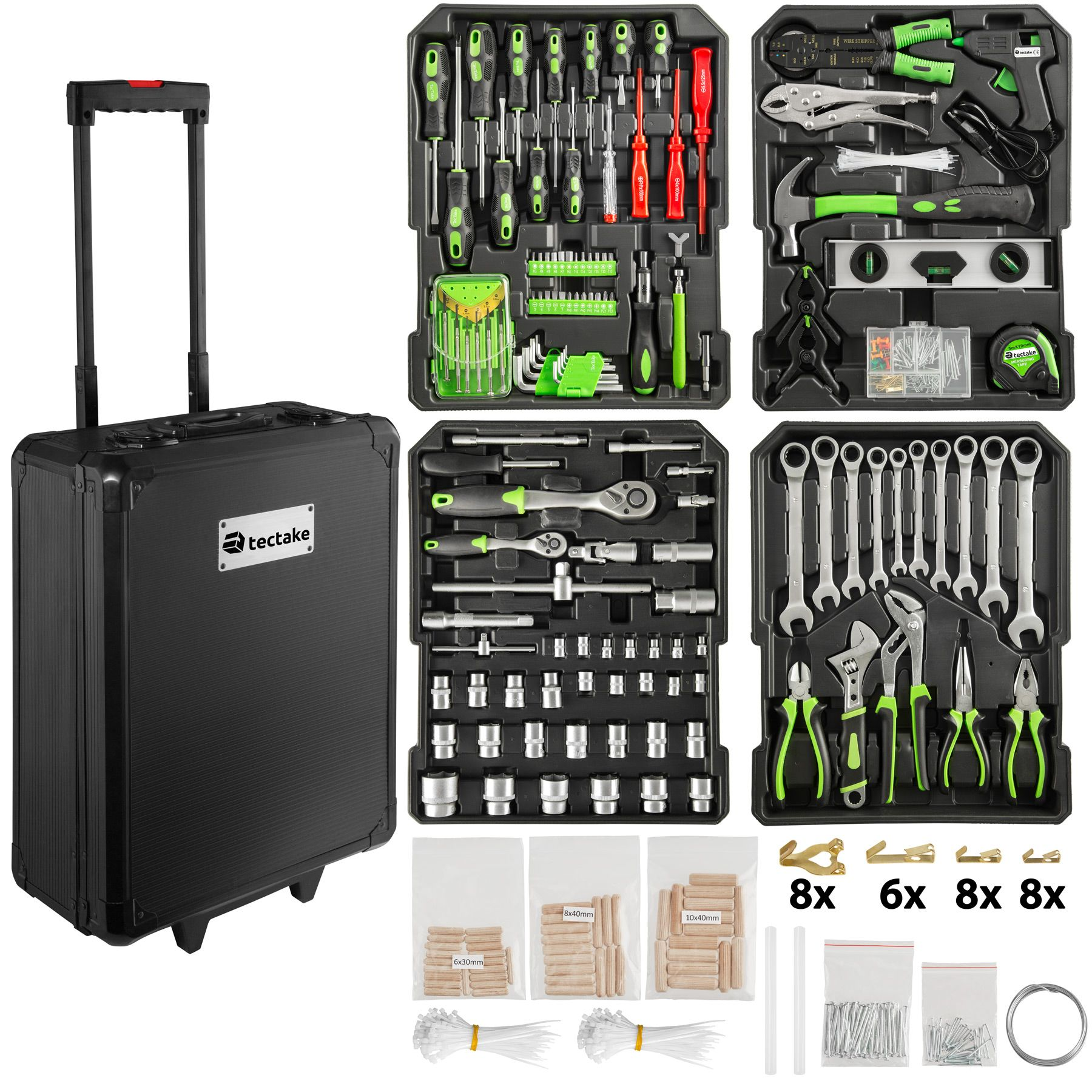 valise outils trolley 899 pi ces boite mallette tire. Black Bedroom Furniture Sets. Home Design Ideas