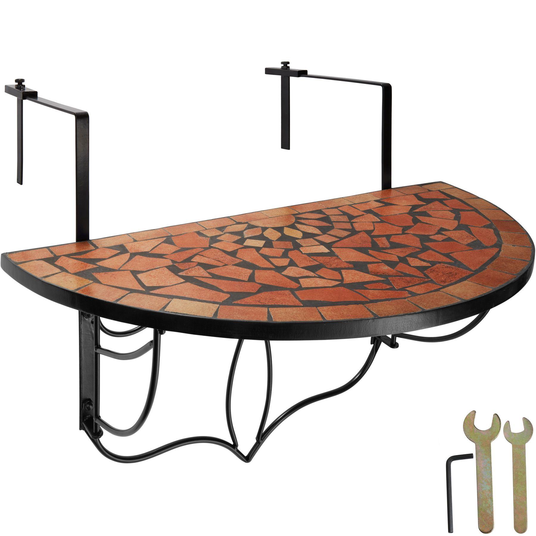 Détails sur Table de balcon mosaïque pliante Rabattable Table suspendue  Table Murale Terre