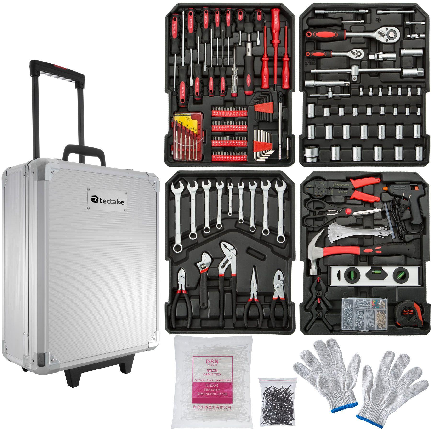 599 piezas maleta de herramientas trolley caja alicates - Maletas para herramientas ...