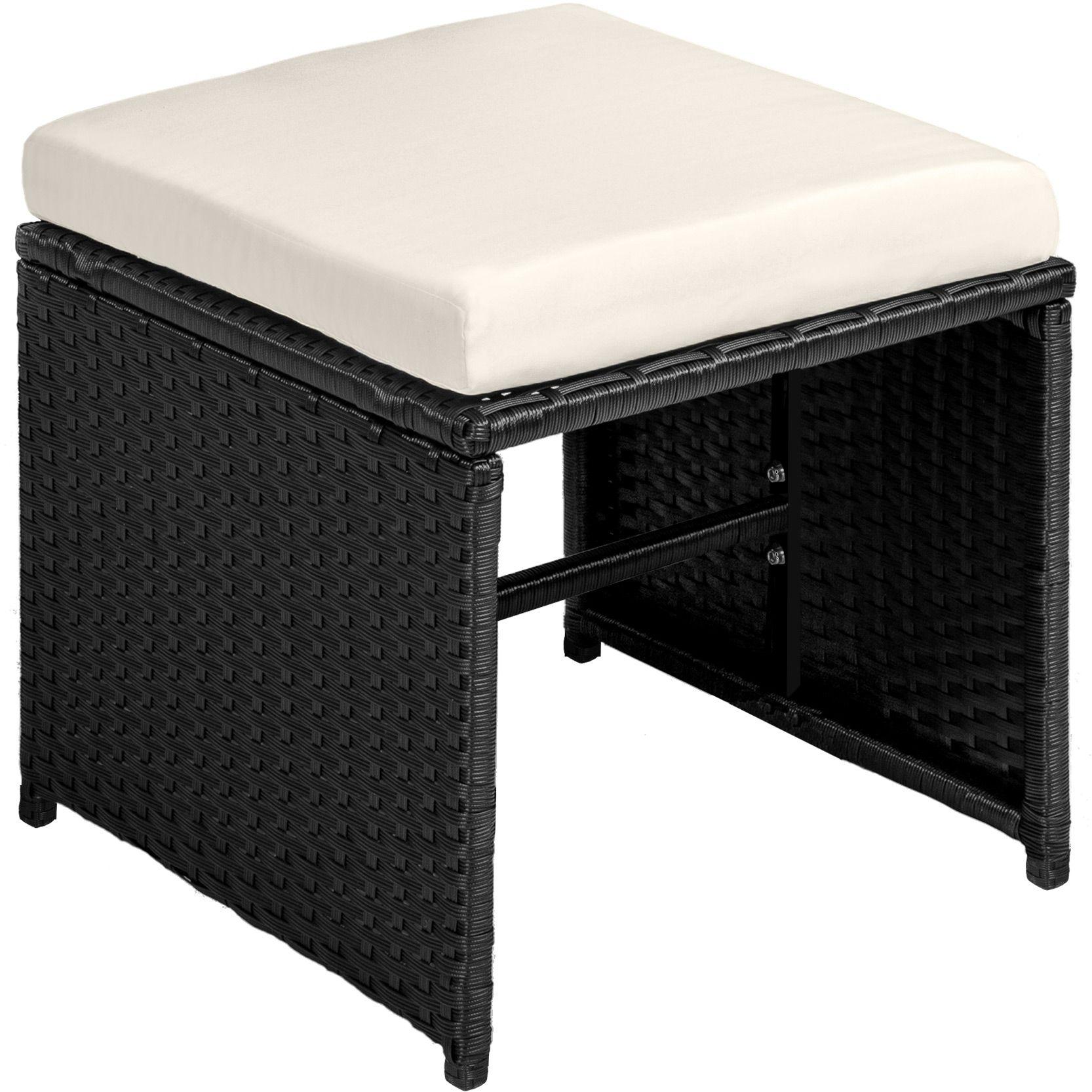 Conjunto muebles de jardín 8x silla taburetes mesa terraza ratán ...