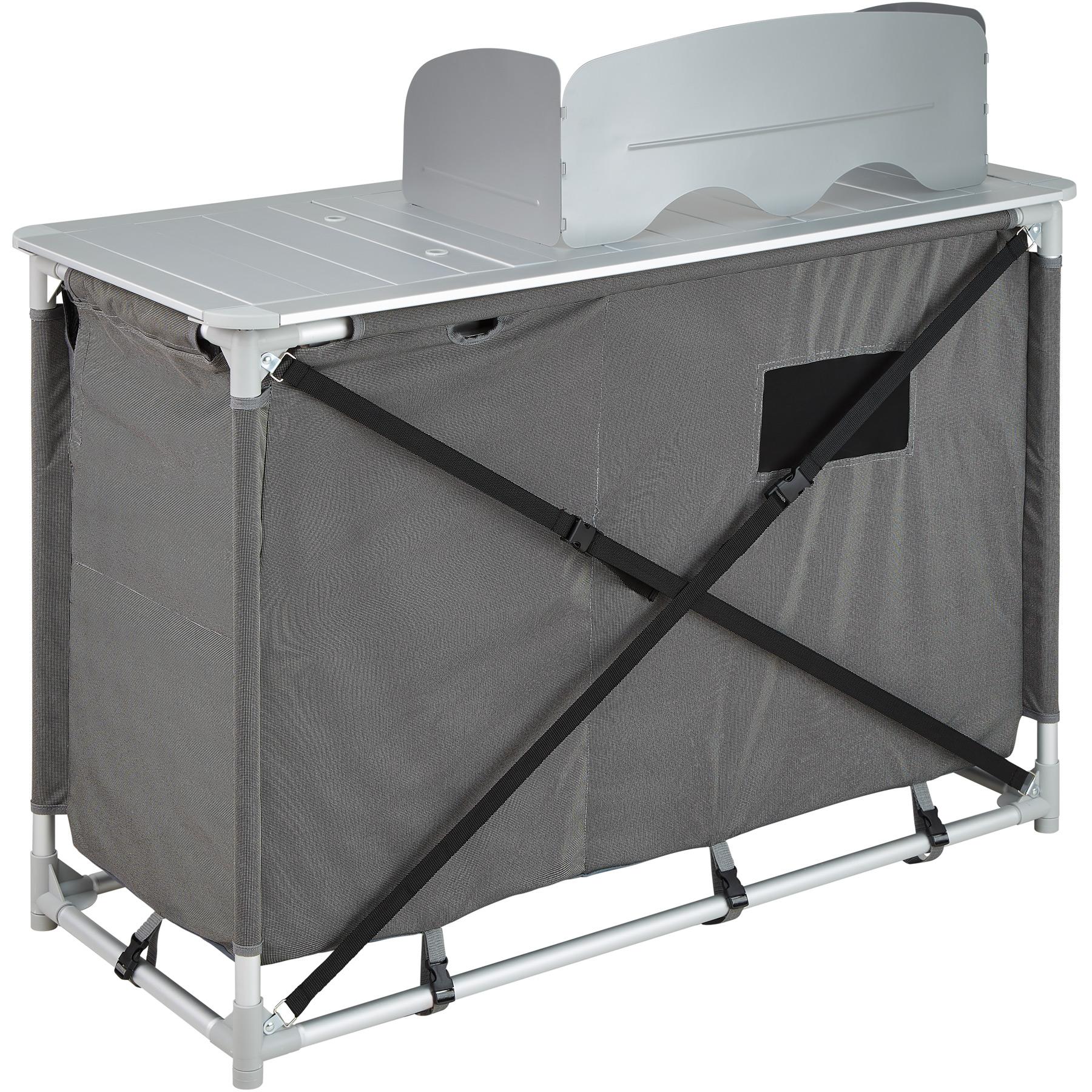 Dettagli su Cucina da campeggio con paravento box da esterni alluminio  mobile pieghevole nuo