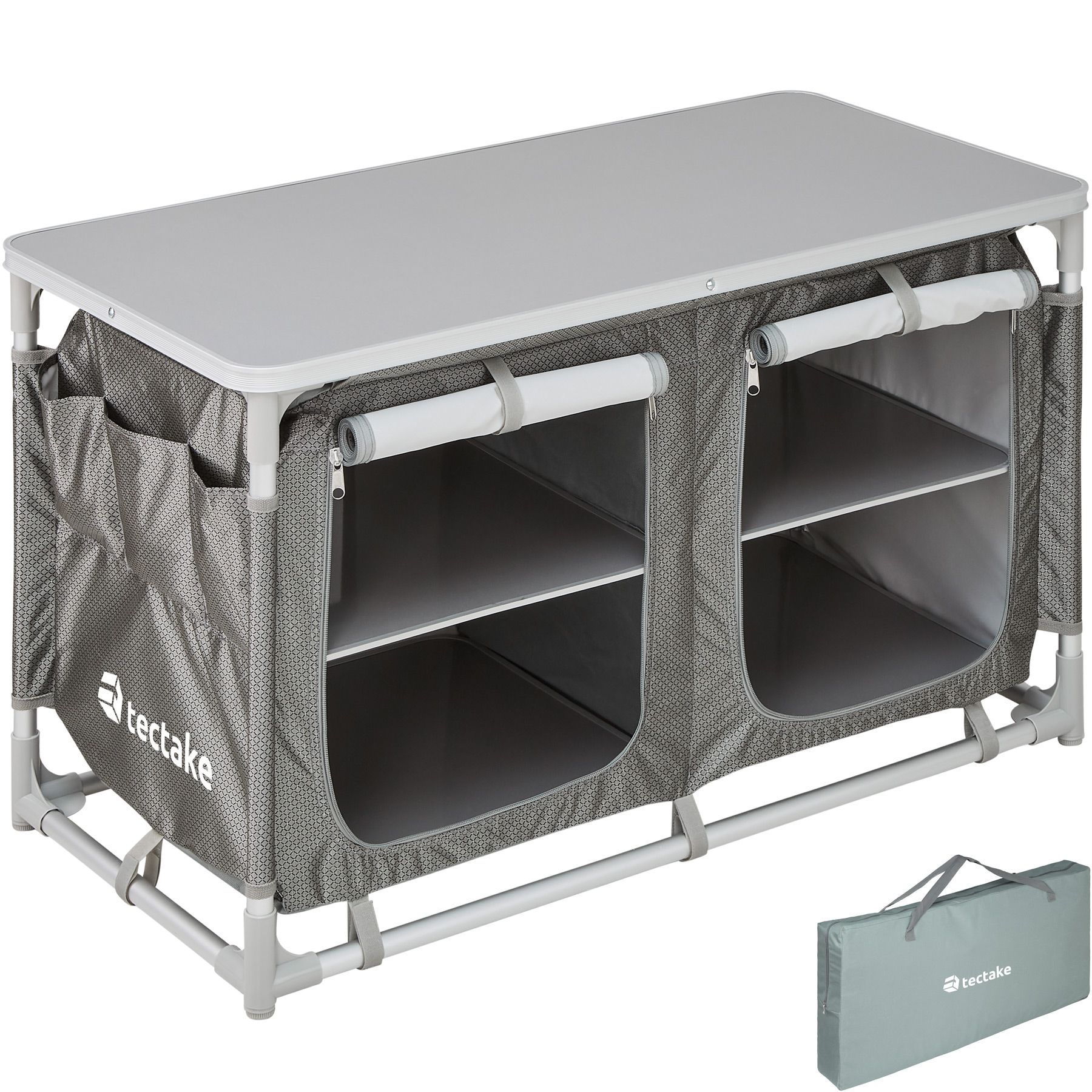 Camping kitchen Camp Cook Camping cupboard 2 compartments Aluminium hob