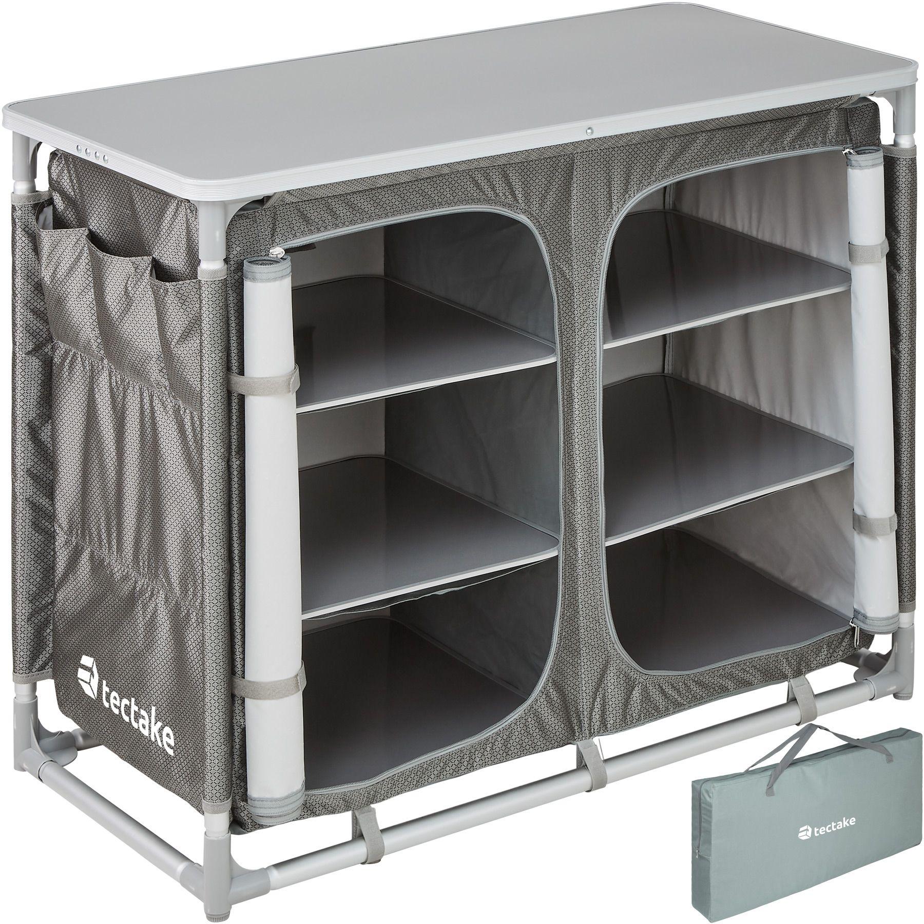 Détails sur Armoire de camping aluminium mobilier cuisine placard table box  jardin pliable