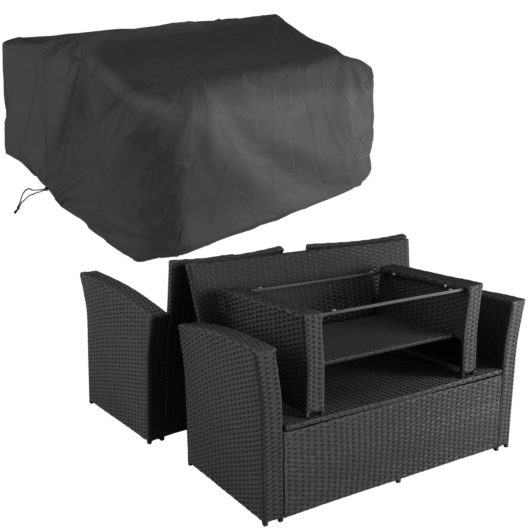 Rattan Seating Lounge Set Sofa Seats Stools Table Garden ...