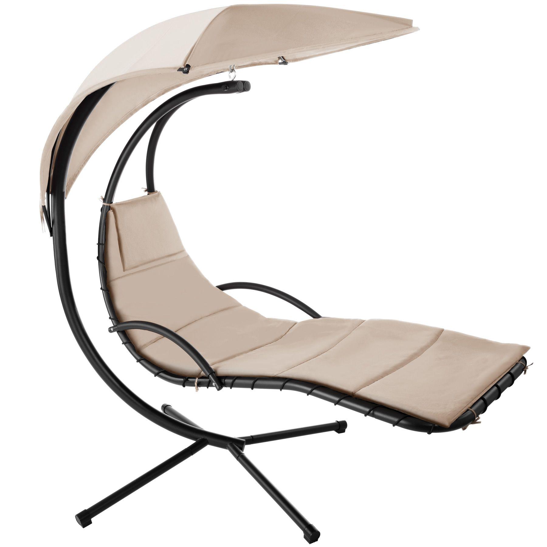 bain de soleil transat suspendu avec paresoleil fauteuil